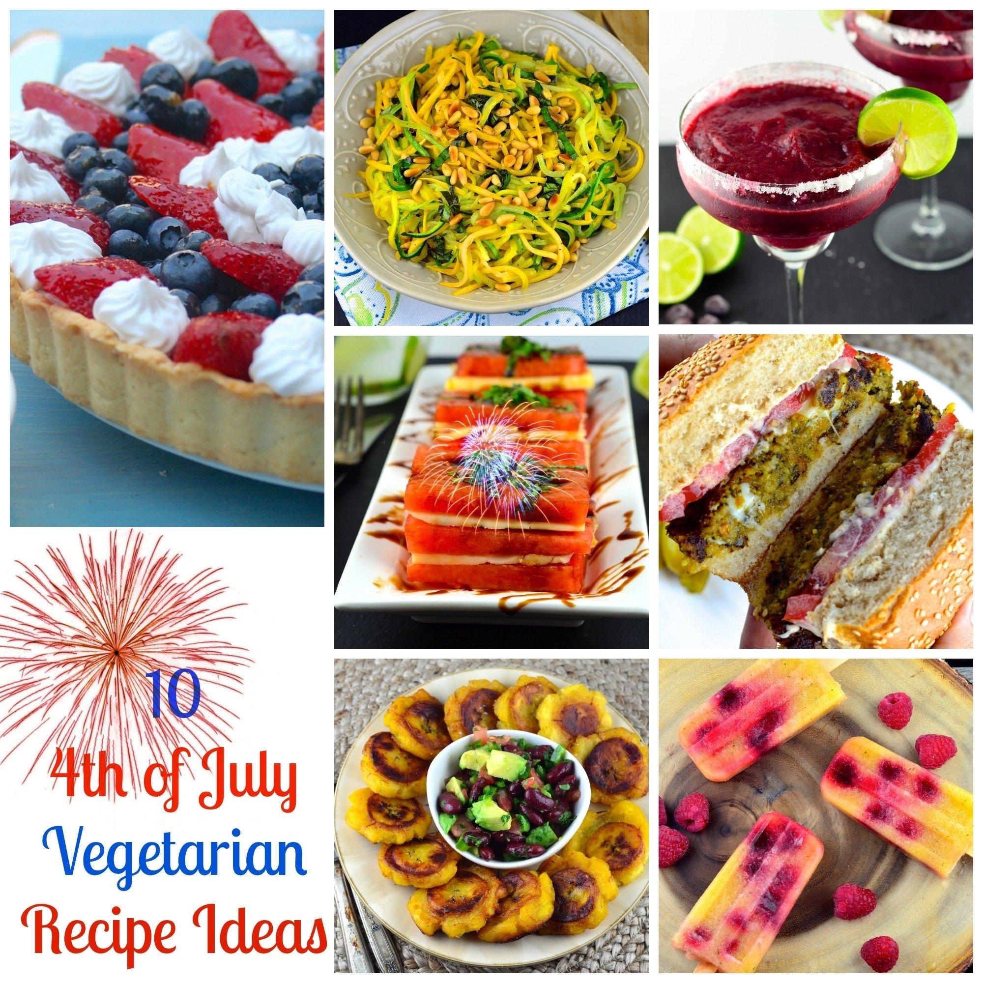 ten 4th of july vegetarian recipe ideas