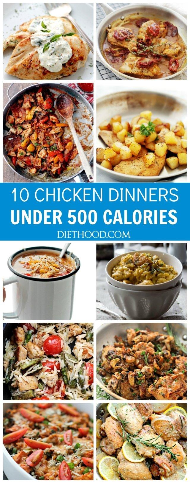 10 Elegant Dinner Ideas Under 500 Calories ten chicken dinners under 500 calories diethood 2021