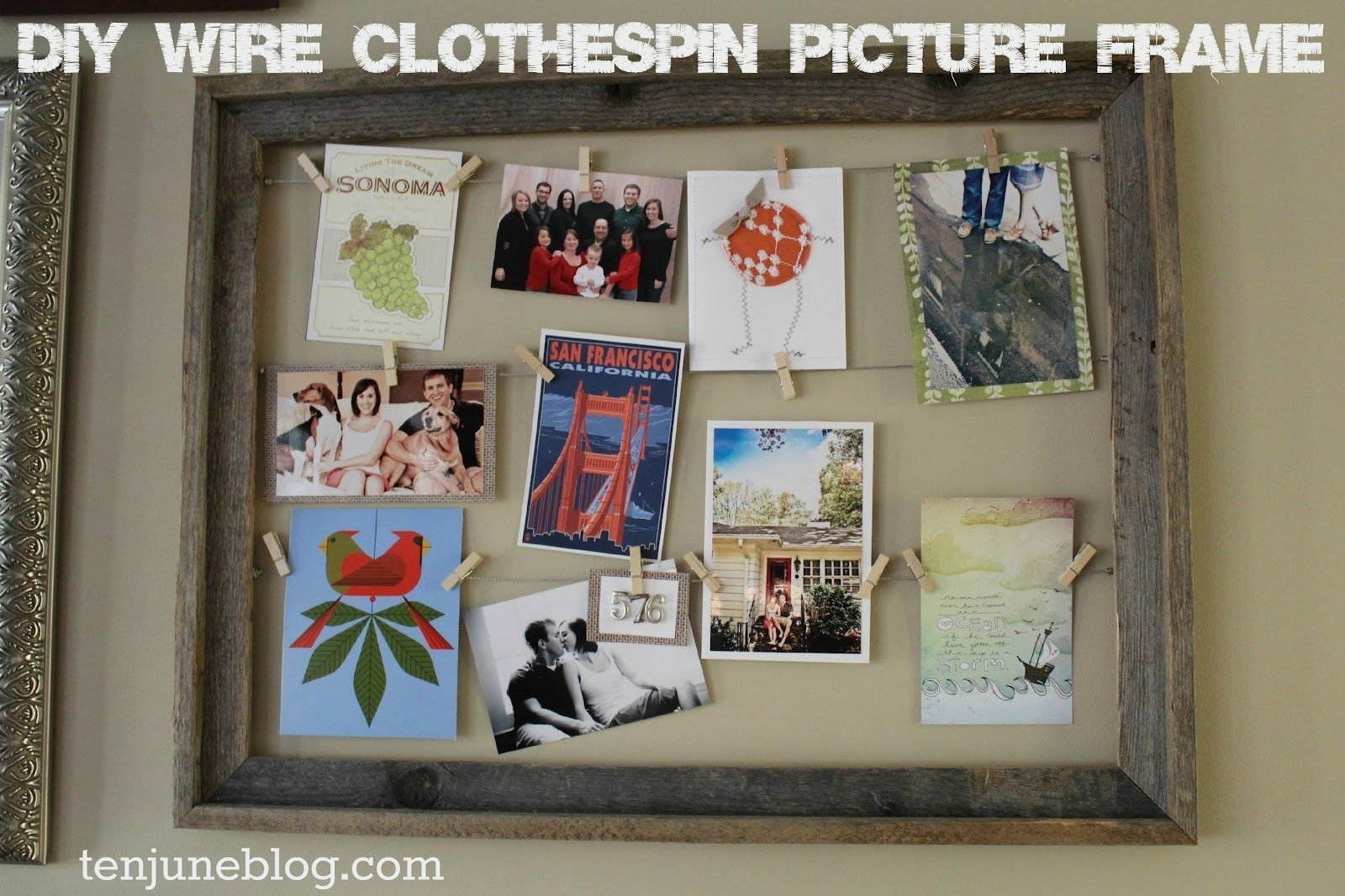 10 Famous Craft Ideas For Picture Frames ten june diy wire clothespin picture frame 2020