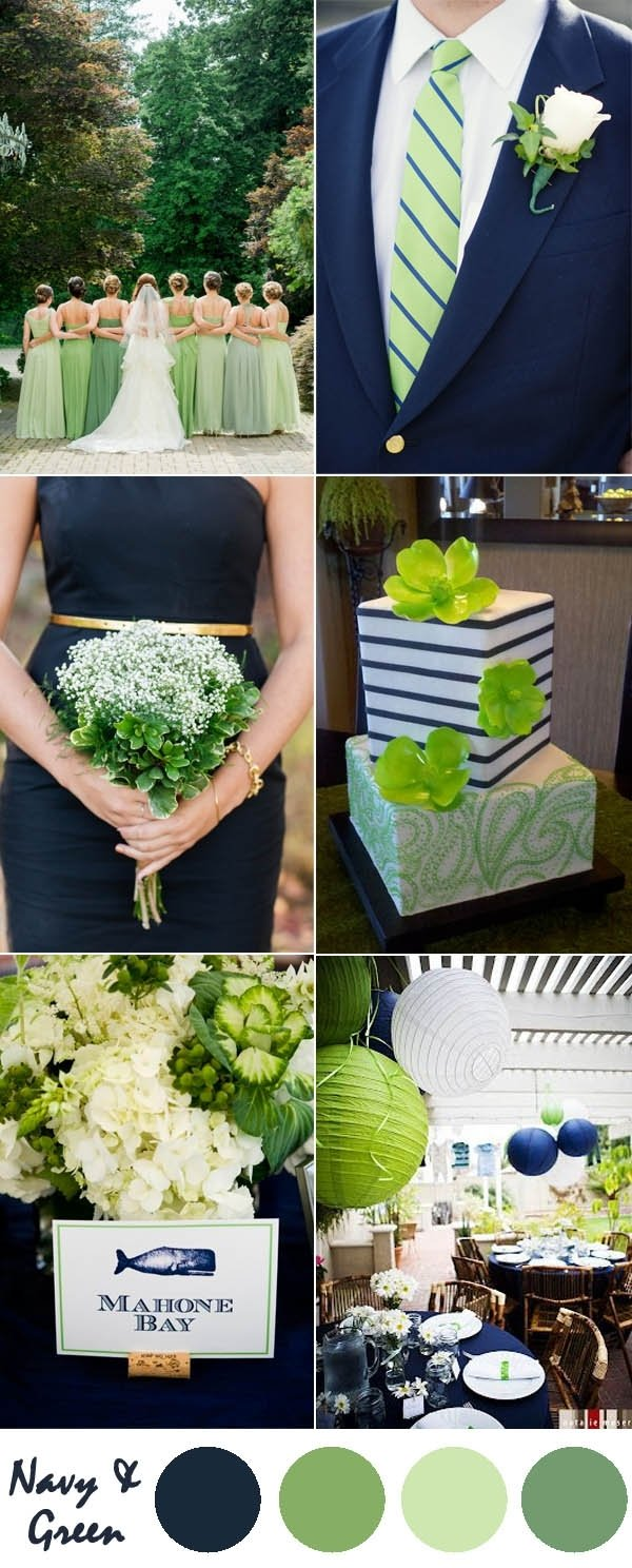 10 Beautiful Blue And Green Wedding Ideas ten most gorgeous navy blue wedding color palette ideas for 2016 2 2020