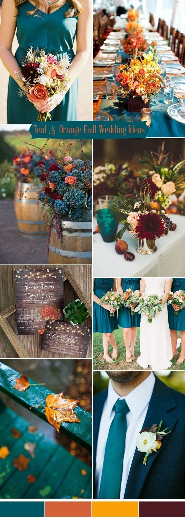 10 Gorgeous Blue And Orange Wedding Ideas ten prettiest shades of blue for 2017 wedding color ideas 2021