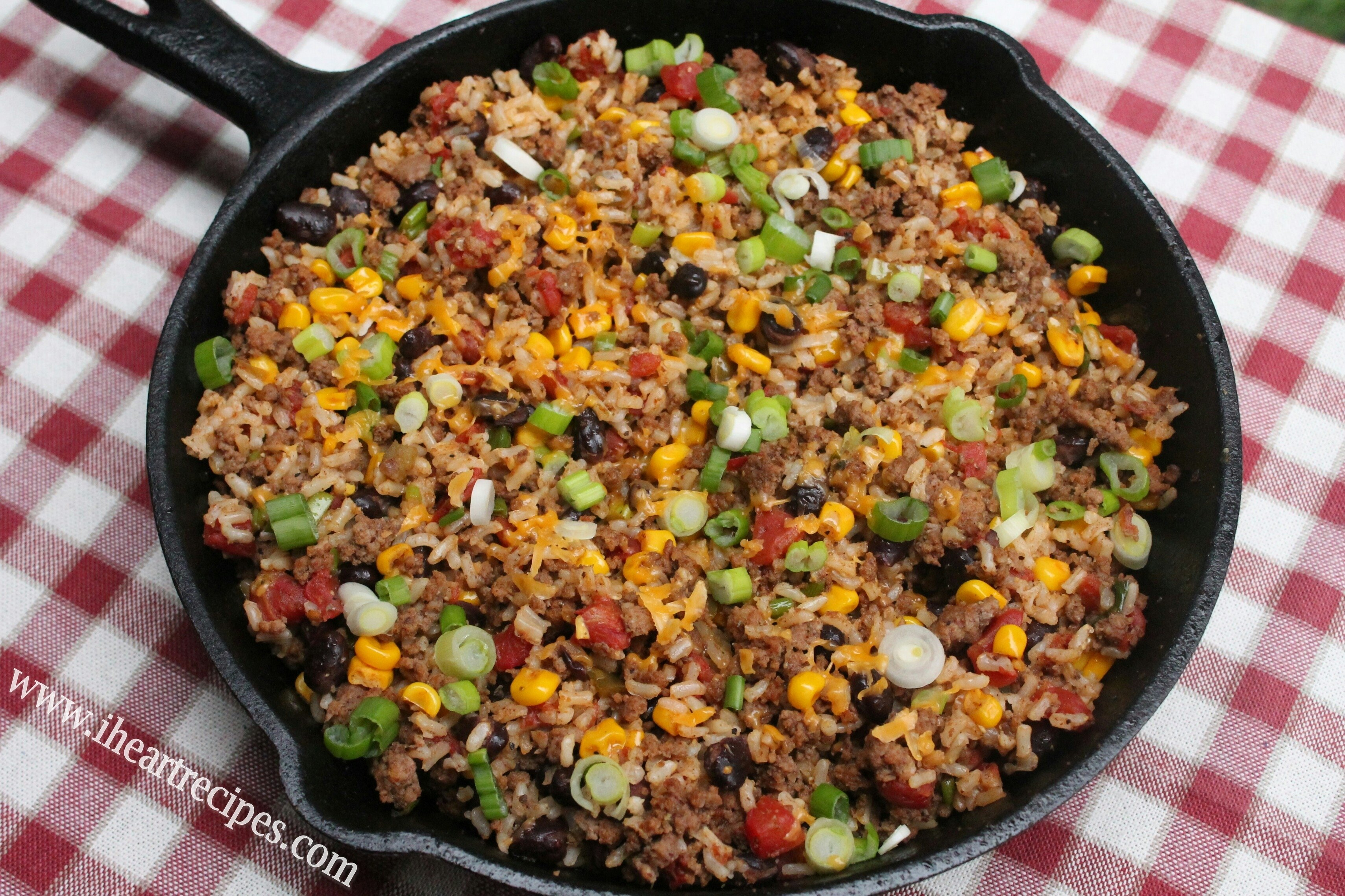 10 Awesome Easy Dinner Ideas With Hamburger Meat tex mex beef skillet i heart recipes 4 2020