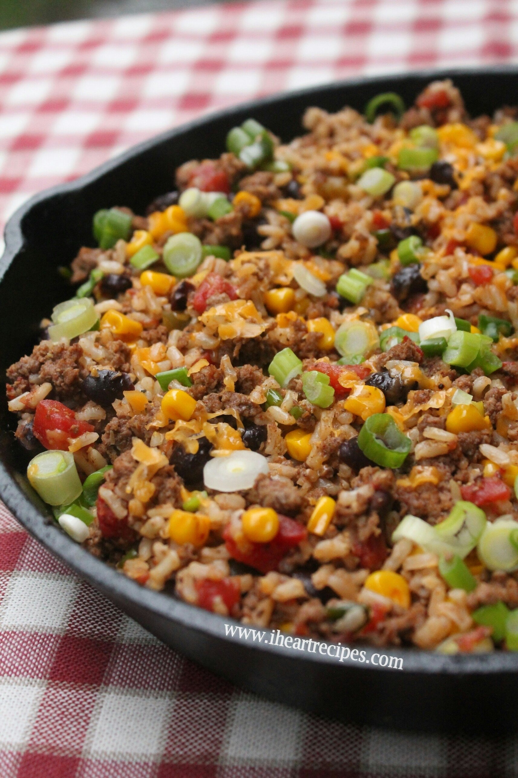 10 Fashionable Simple Dinner Ideas With Ground Beef tex mex beef skillet i heart recipes 5 2020
