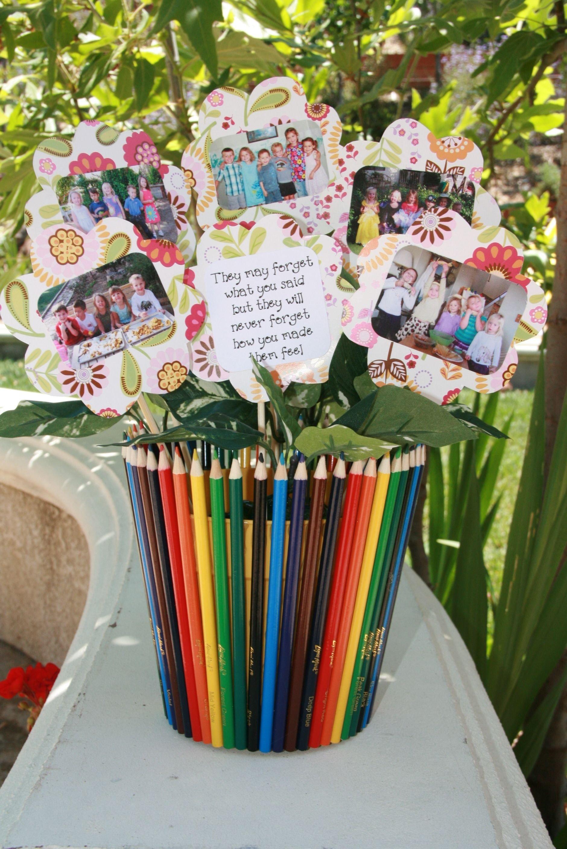10 Spectacular Gift Ideas For Preschool Teachers thank you gift for my kids preschool teacher with class pictures 2021