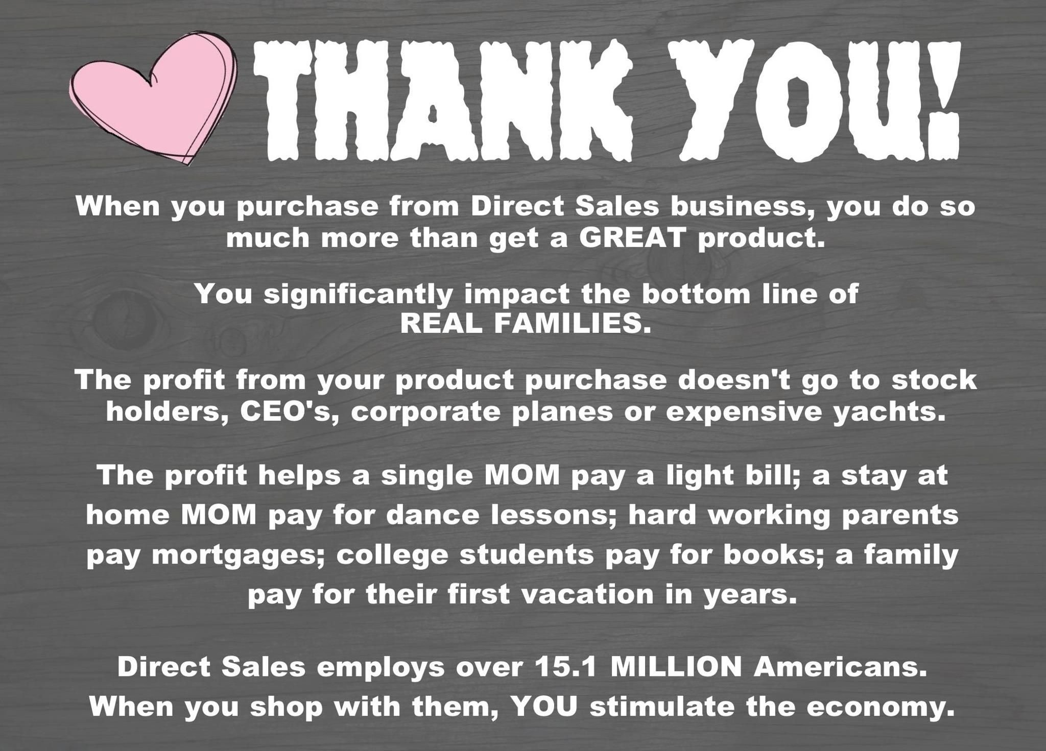 10 Wonderful Business Thank You Gift Ideas thank you when you support a direct sales business your purchase 2020