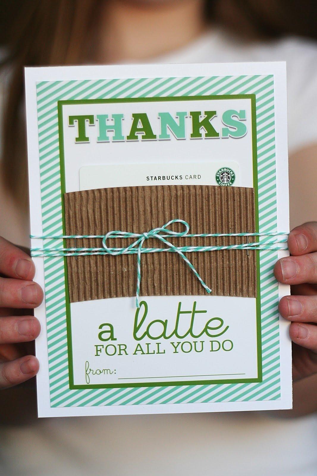 10 Pretty Daycare Teacher Appreciation Gift Ideas thanks a latte eighteen25 2020