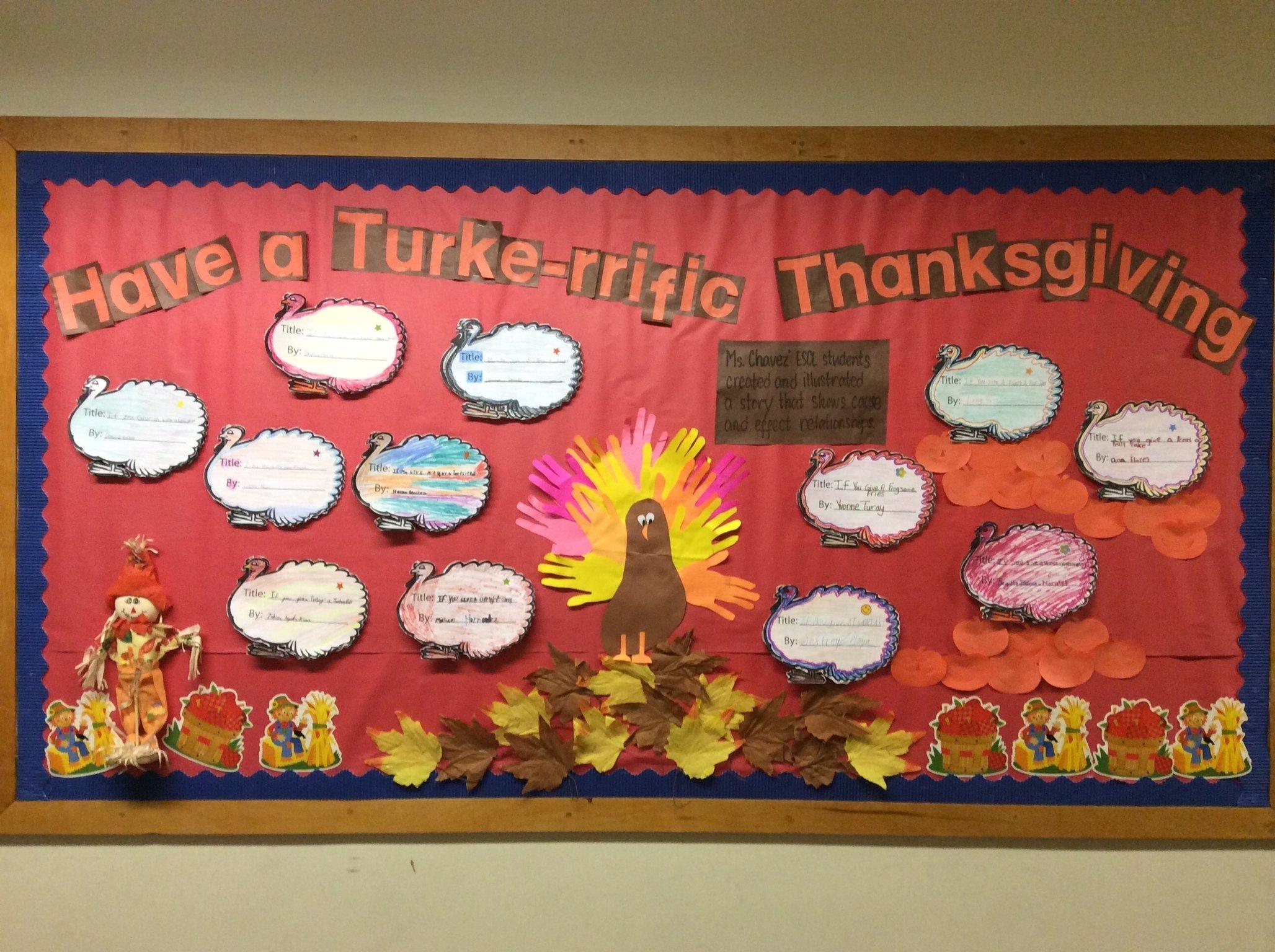 10 Nice Bulletin Board Ideas For Thanksgiving thanksgiving bulletin board archives esl gem