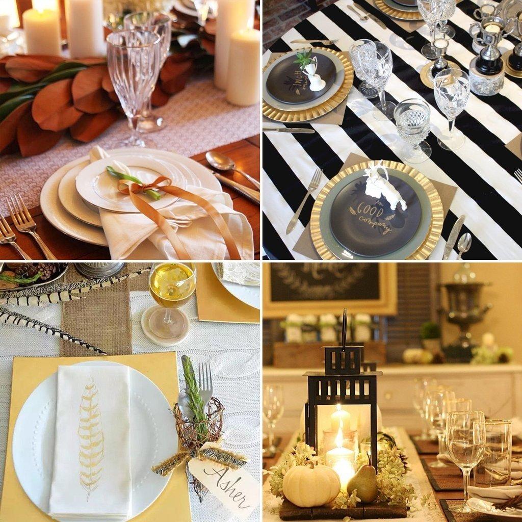 10 Attractive Table Setting Ideas For Thanksgiving thanksgiving table setting ideas from instagram popsugar home 2021