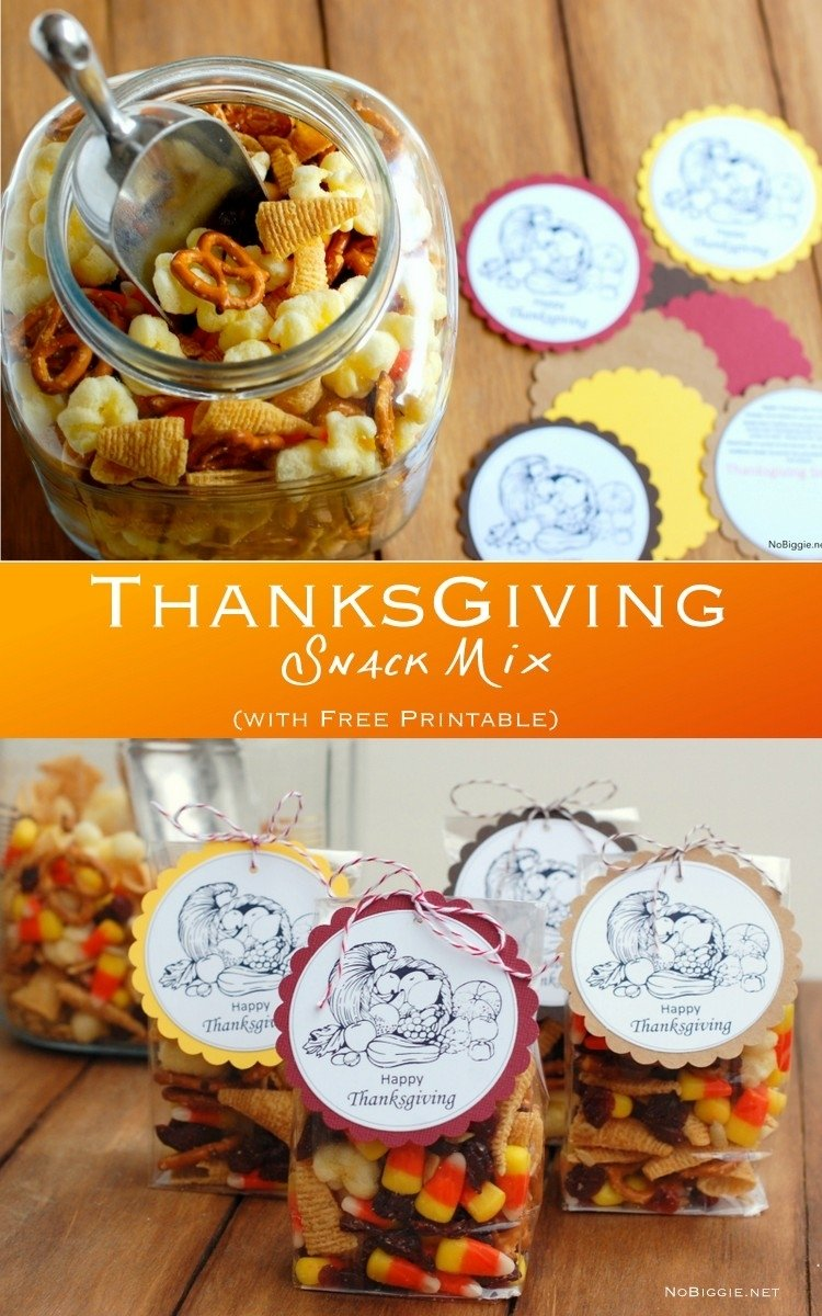 10 Ideal Thanksgiving Snack Ideas For Kids thanksgving snack mix free printable