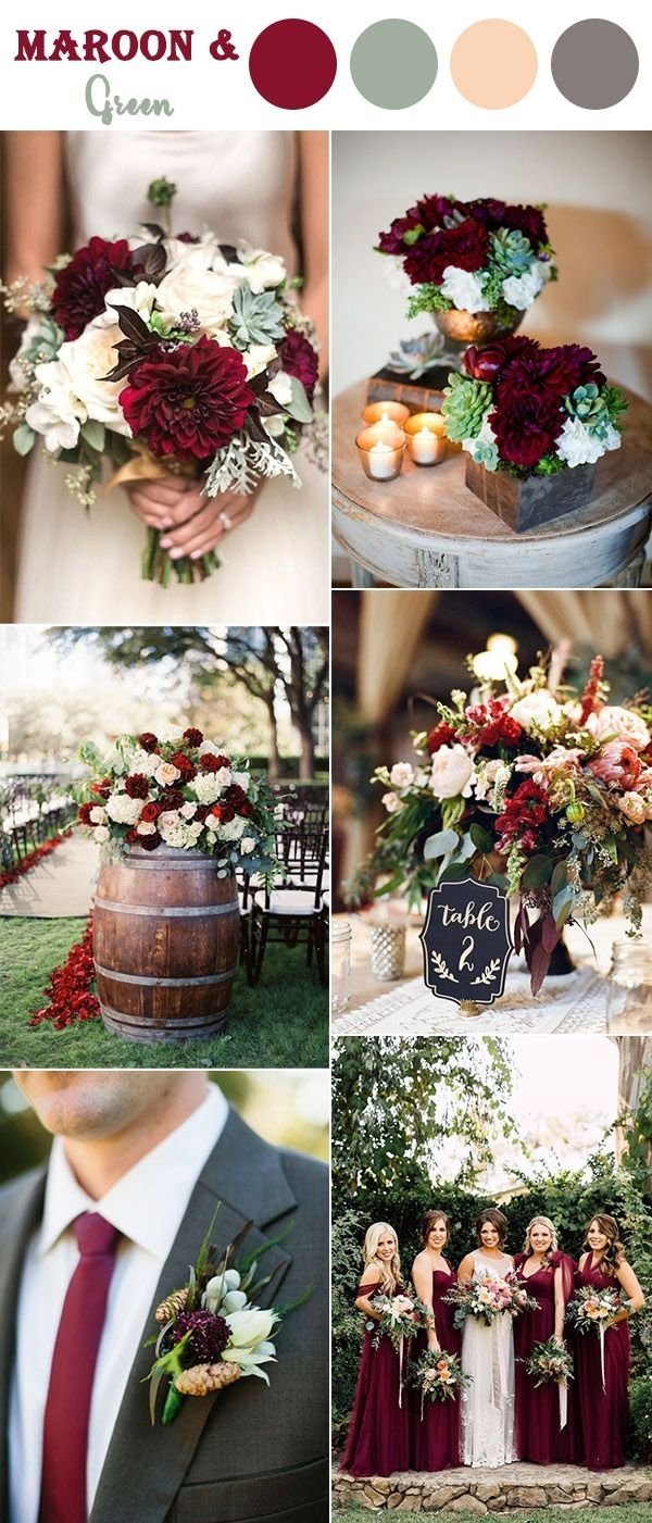 10 Amazing Wedding Color Ideas For Fall the 10 perfect fall wedding color combos to steal in 2018 autumn 2020