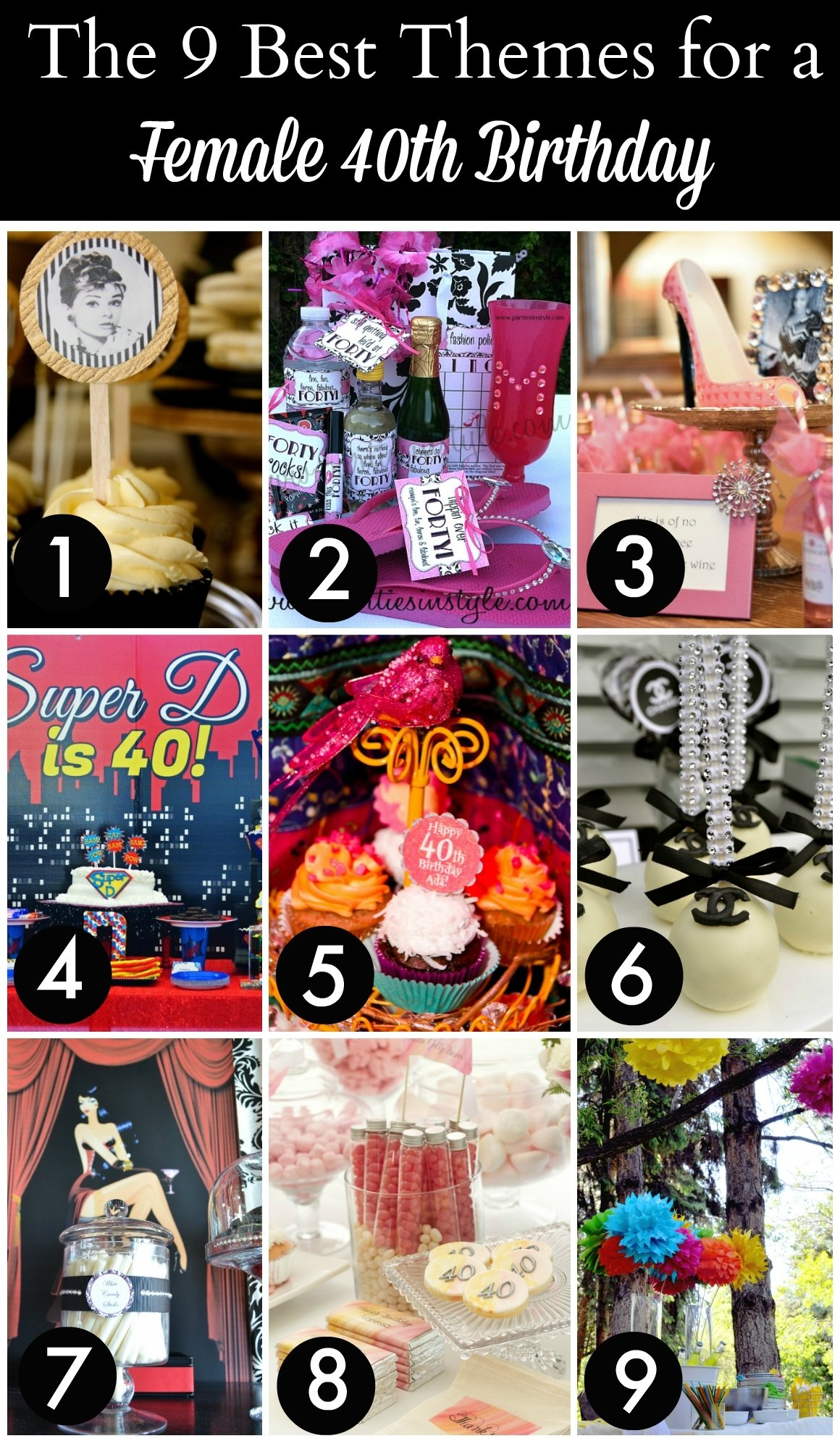 the 12 best 40th birthday themes for women | catch my party