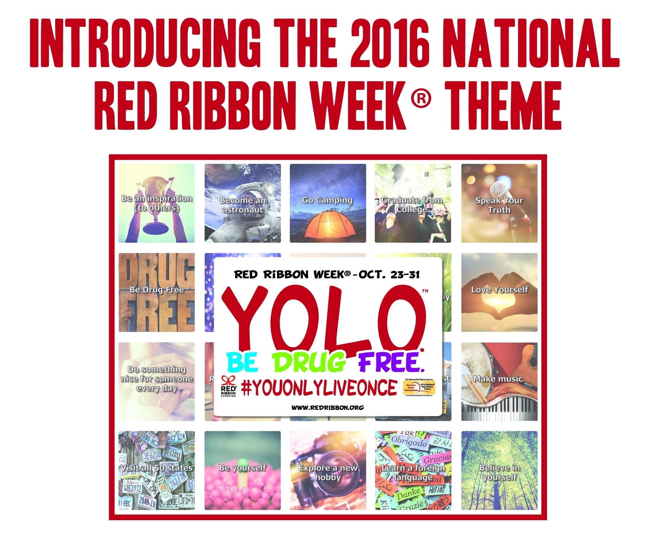 10 Lovable Red Ribbon Week Ideas For Elementary School the 2016 red ribbon week theme yolo be drug free red ribbon 2020