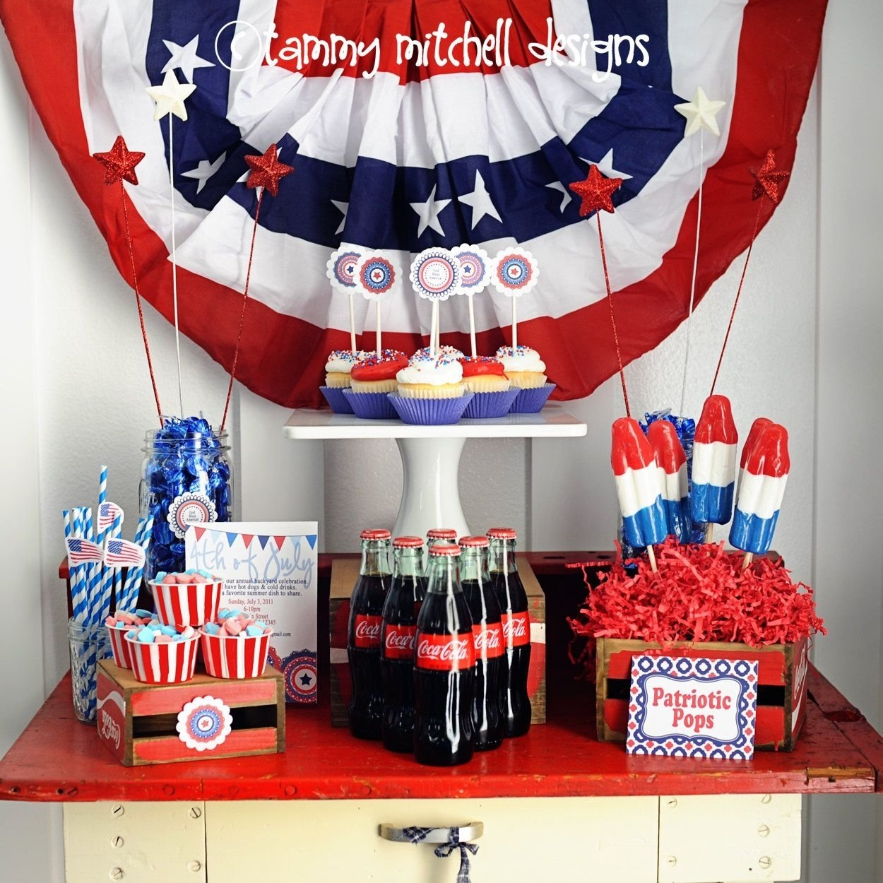 10 Beautiful Red White And Blue Party Ideas the 4th of july election night party patriotic red white and blue 2020