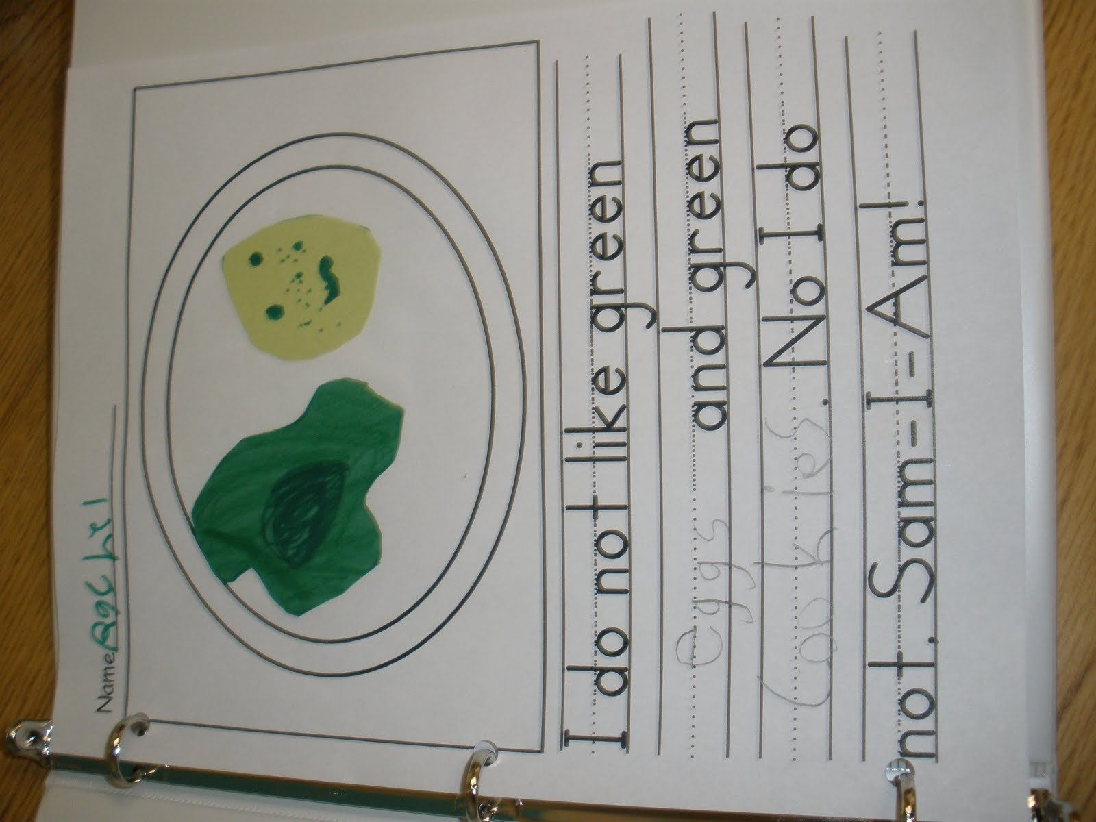 the art of teaching: a kindergarten blog: my green eggs and ham paper