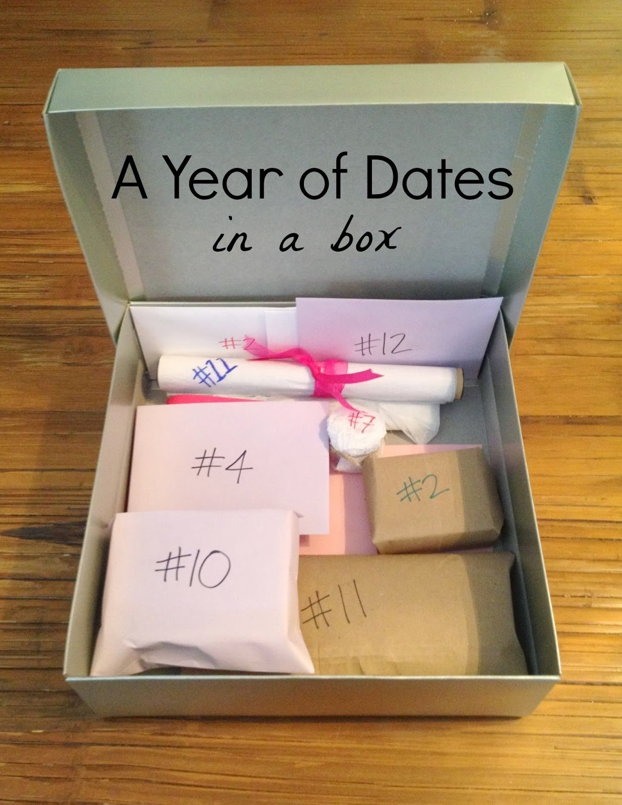 10 Fashionable One Year Anniversary Date Ideas the babes ruth a year of dates in a box 2