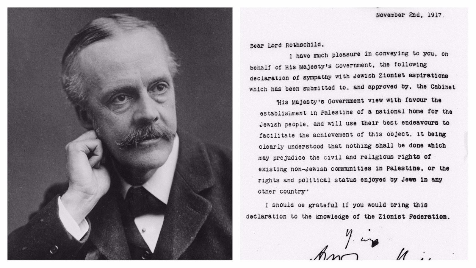 the balfour declaration of 1917 | my jewish learning