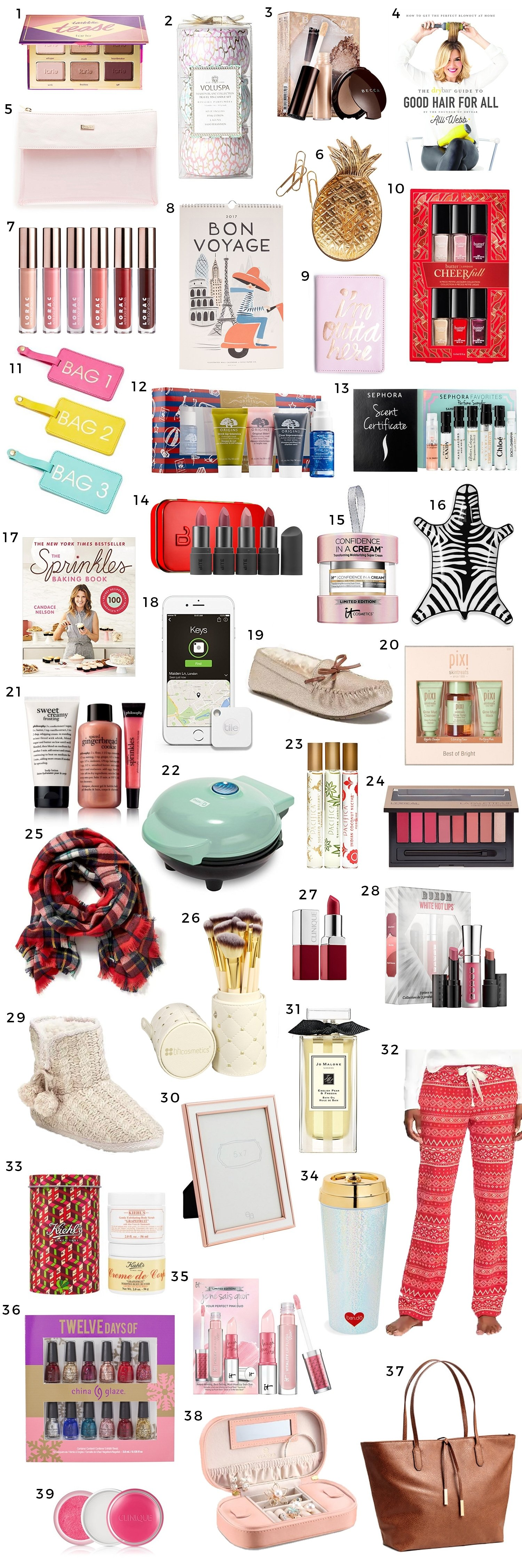 10 Awesome Holiday Gift Ideas For Women the best christmas gift ideas for women under 25 ashley brooke 3 2020