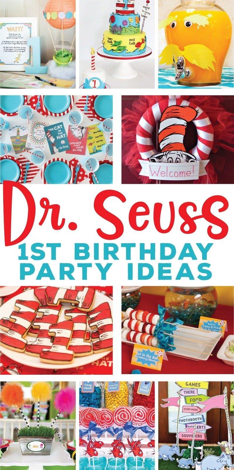 10 Wonderful Dr Seuss 1St Birthday Ideas
