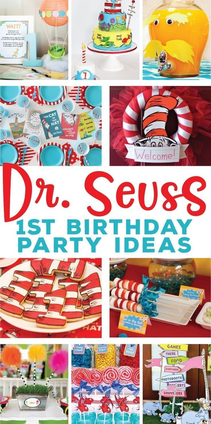 10 Beautiful Dr Seuss First Birthday Party Ideas the best dr seuss 1st birthday party ideas on