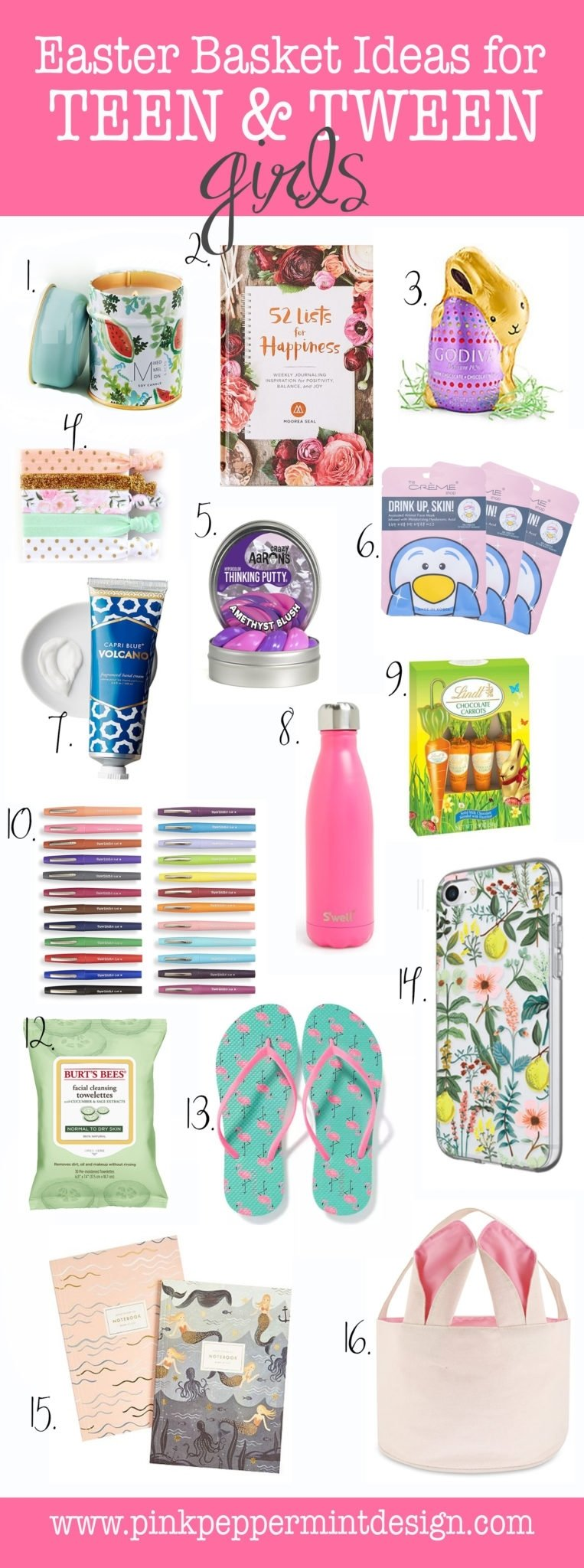 the best easter basket ideas for a teenage girl (and tweens) - pink