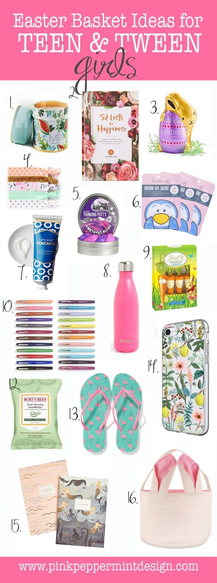 10 Most Popular Easter Basket Ideas For Teenagers the best easter basket ideas for a teenage girl and tweens pink 2021