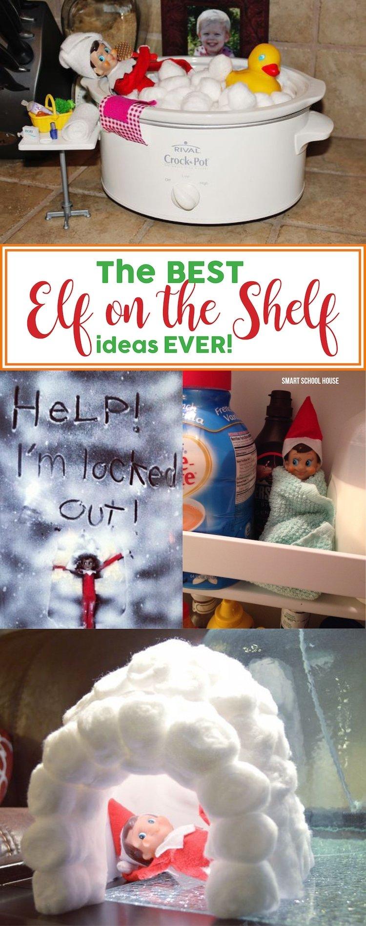 10 Cute Cool Ideas For Elf On The Shelf the best elf on the shelf ideas ever smart school house 1 2020