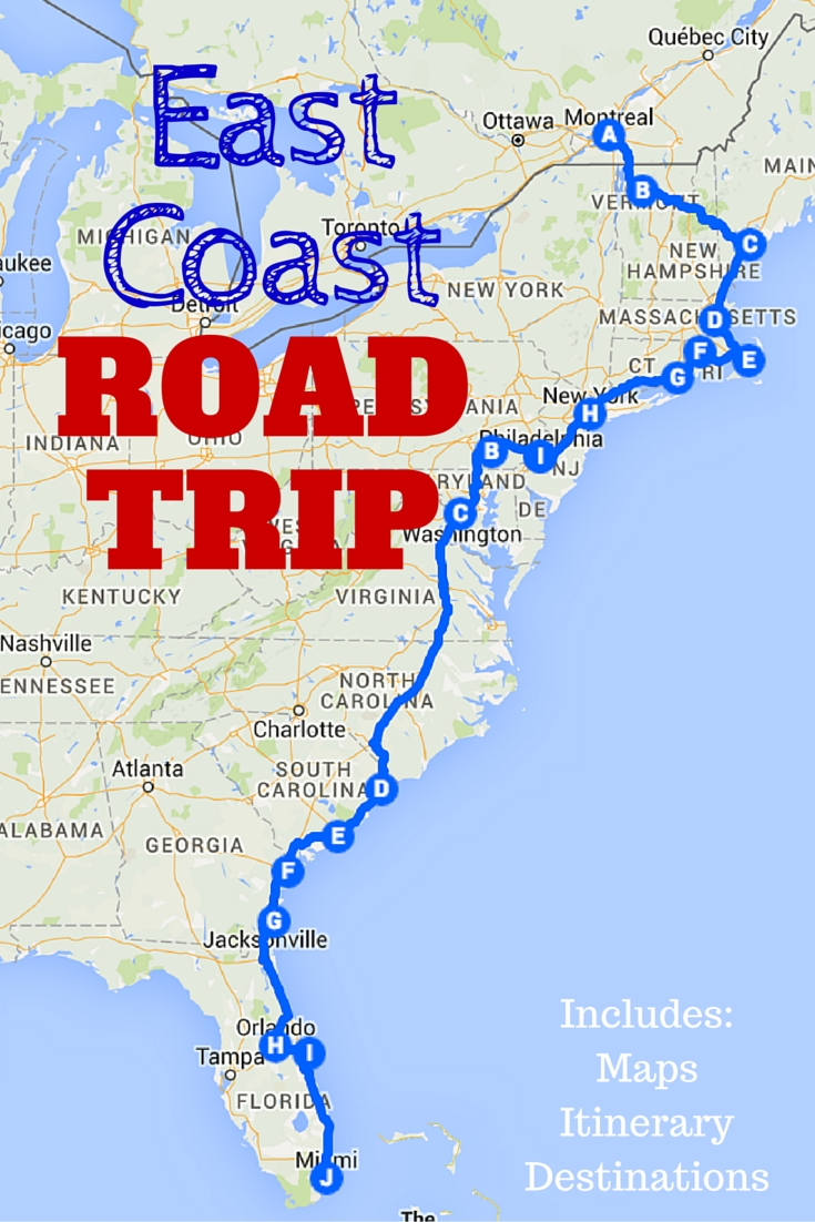 the best ever east coast road trip itinerary | east coast road trip