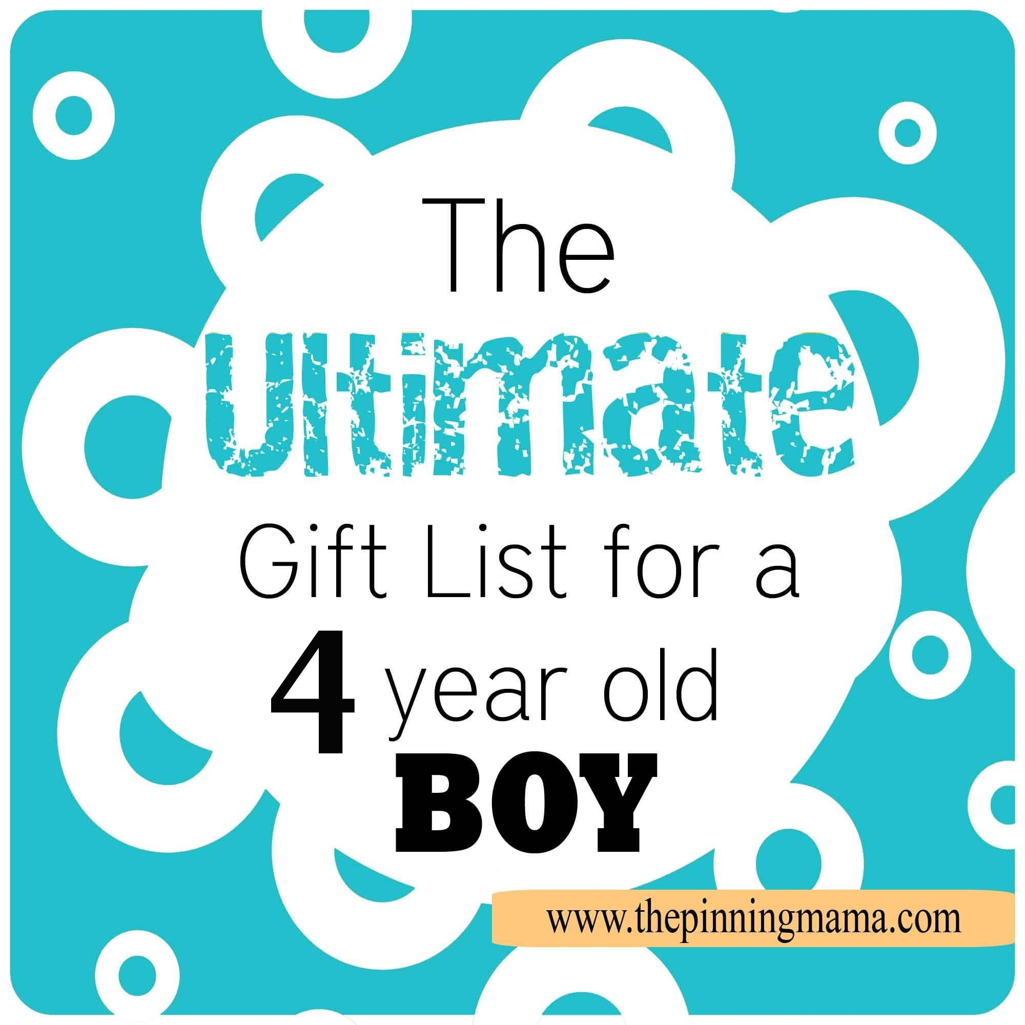 the best list of gift ideas for a 4 year old boy! • the pinning mama