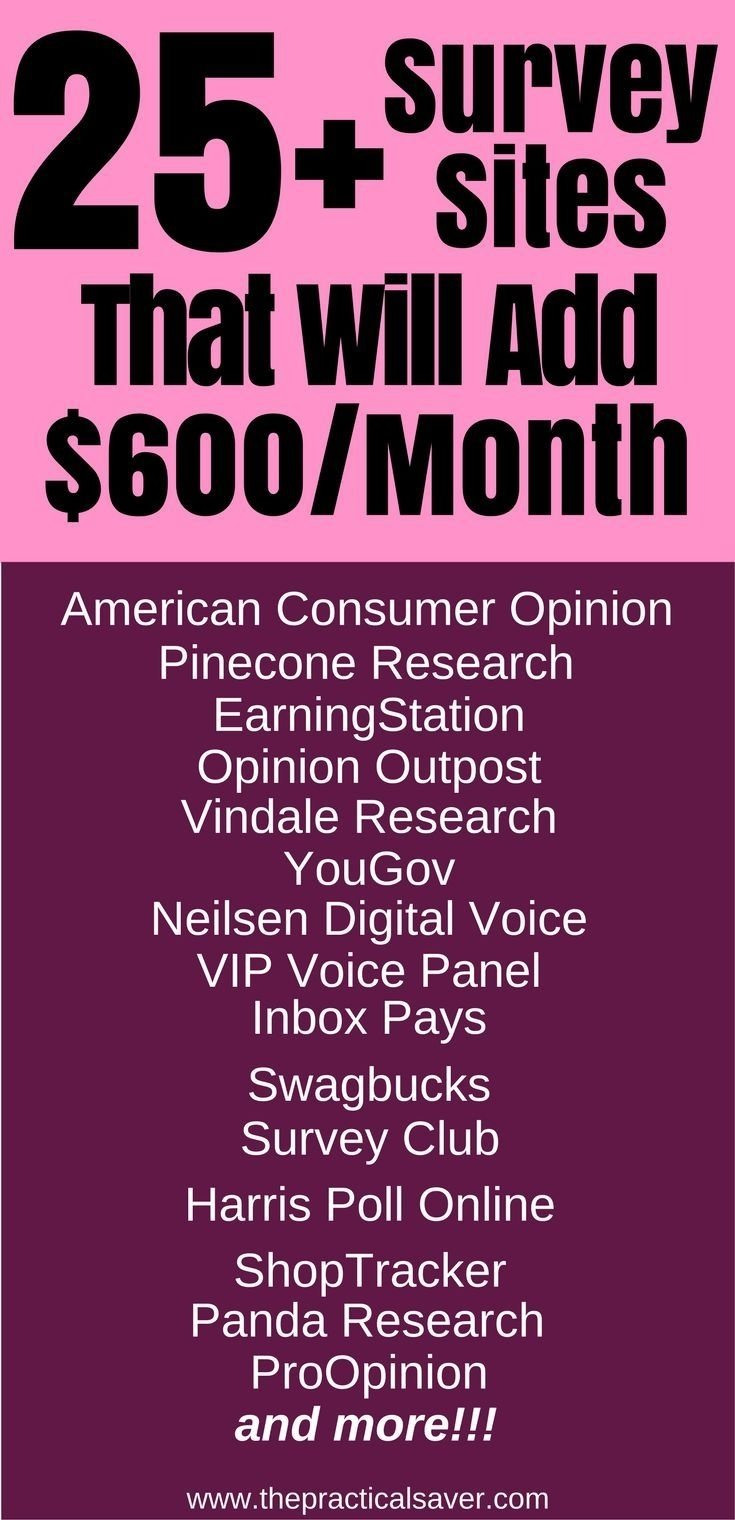 10 Perfect Ideas To Make Money Fast the best paid online surveys 25 websites to add 600 month updated