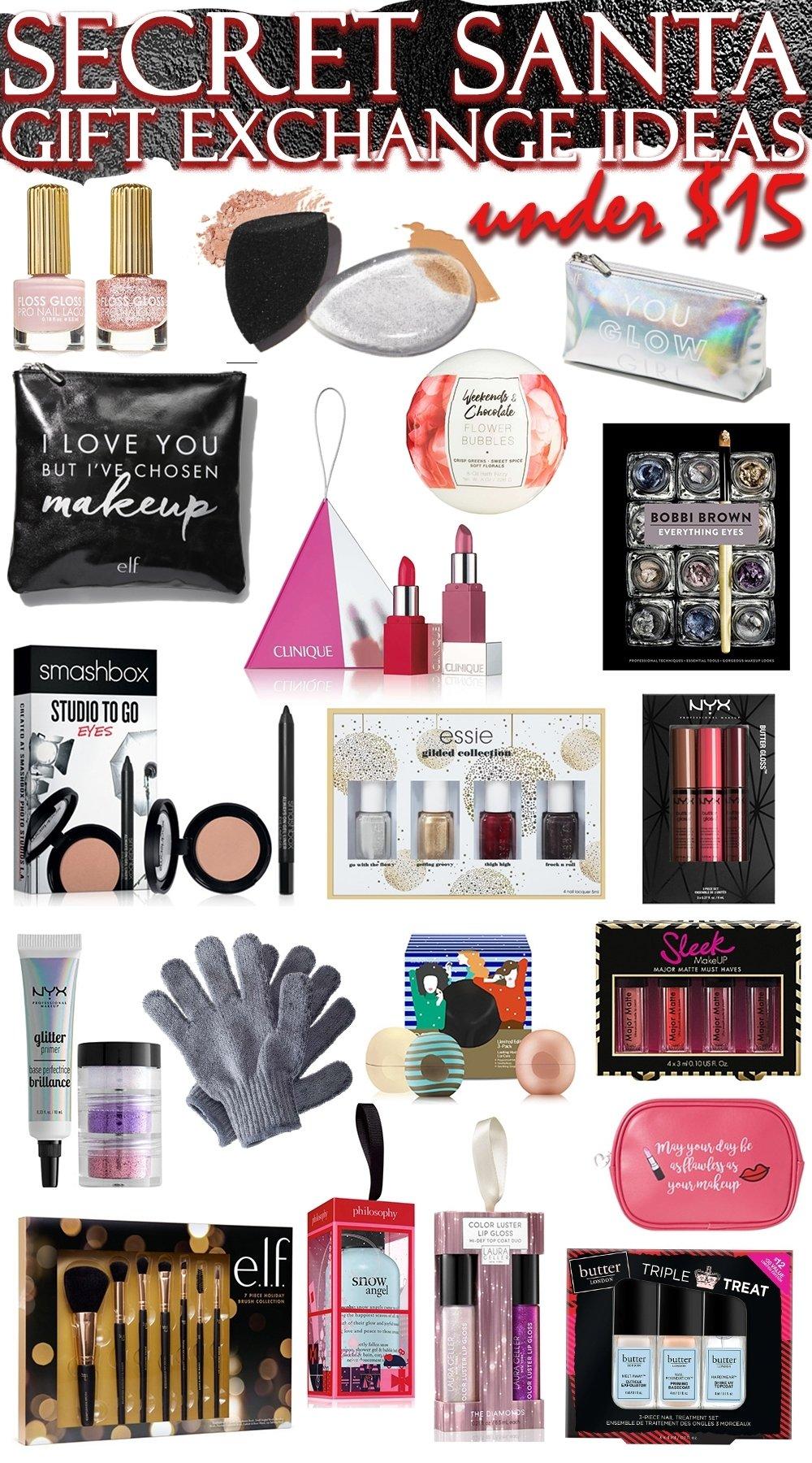 10 Trendy Ideas For Secret Santa Gifts the best secret santa gift exchange ideas in beauty all under 15 5