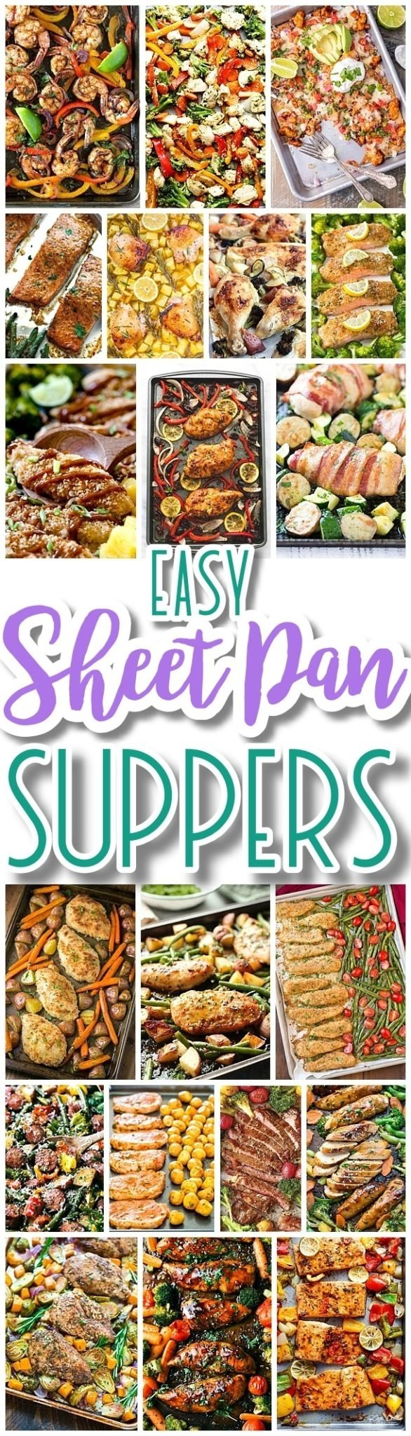 10 Stunning Simple Dinner Ideas For Family the best sheet pan suppers recipes easy and quick baked family 2020