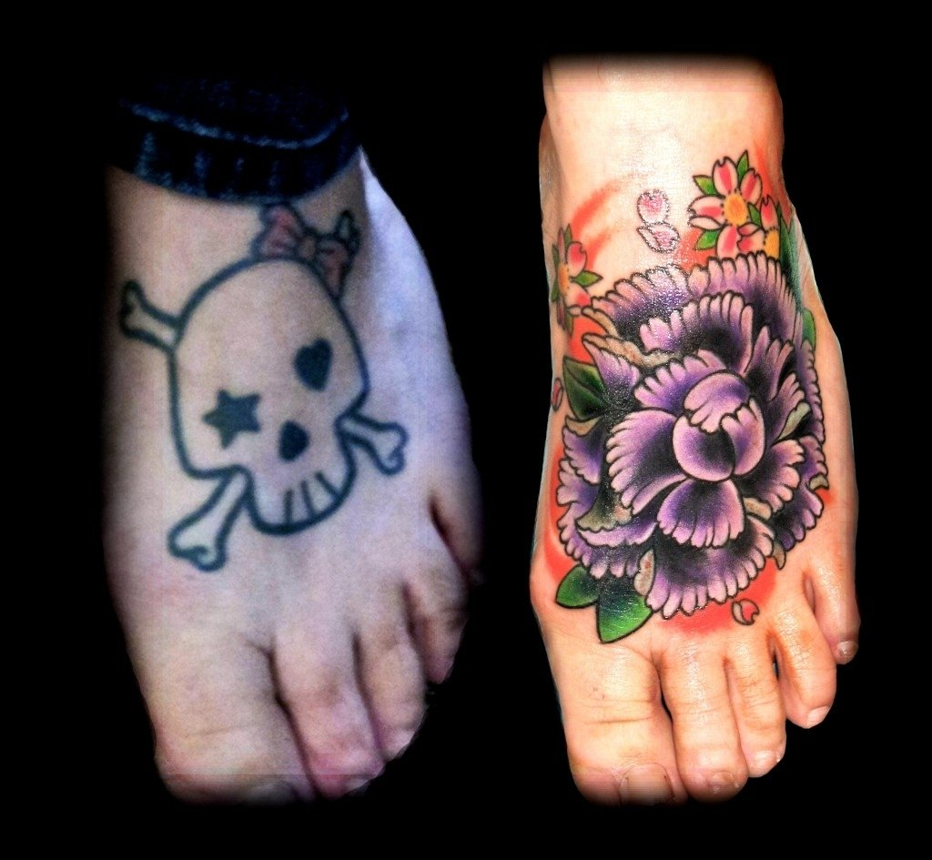 10 Cute Foot Tattoo Cover Up Ideas the best tattoo cover ups of the worst tattoos 2021