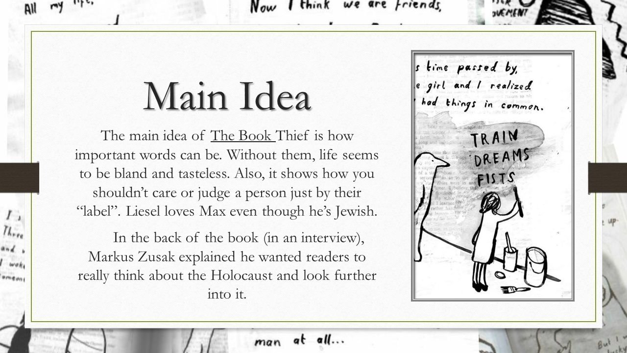 10 Stunning Main Idea Of A Book the book thiefmarkus zusak summary the book thief is about a 2021