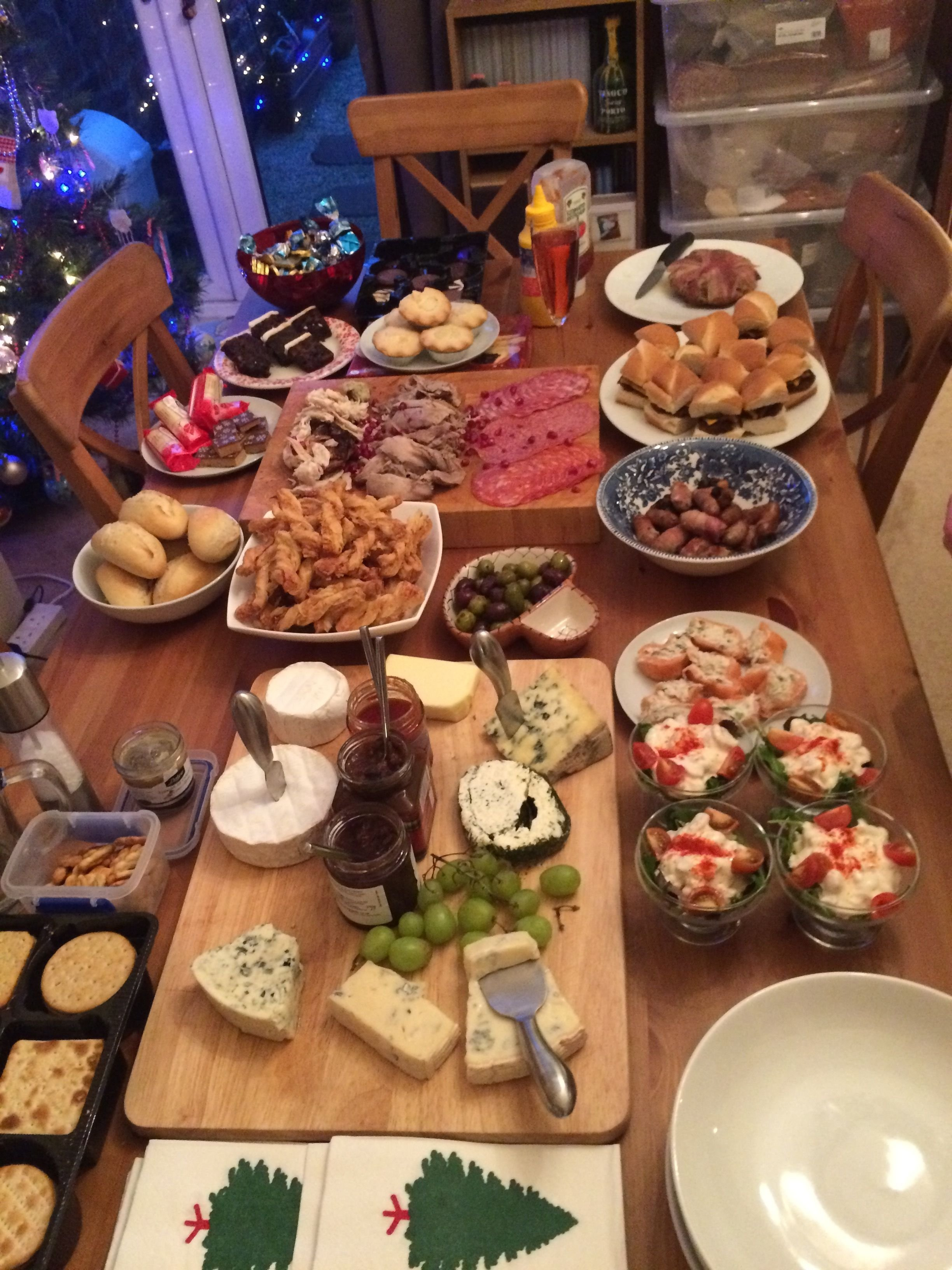 the boxing day buffet, love cheese, all its needs it our smokey