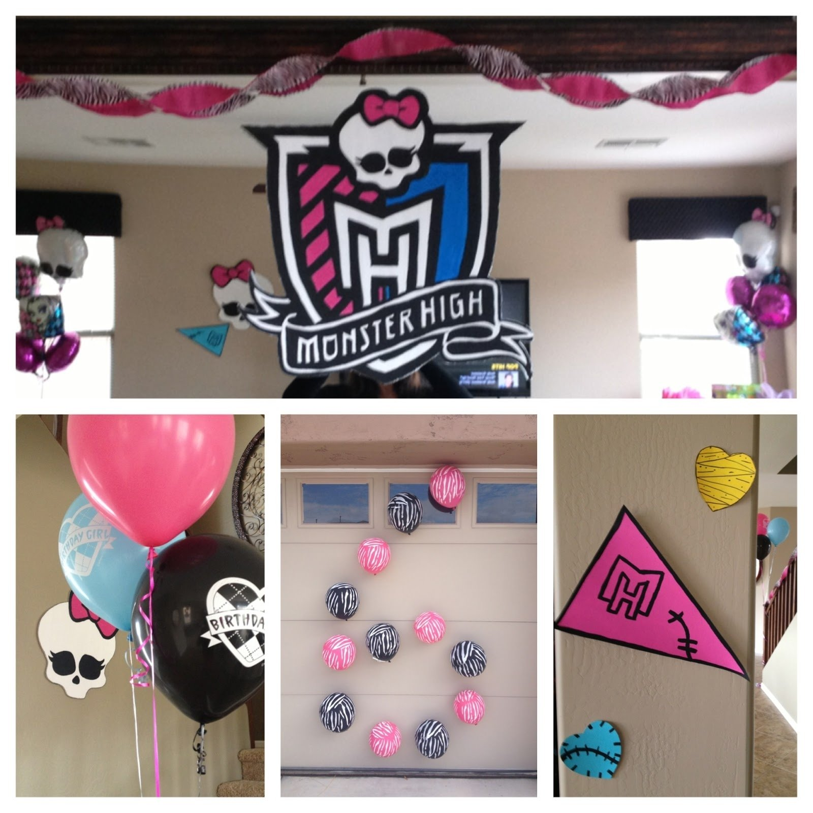 10 Elegant Monster High Birthday Party Game Ideas the busy broad monster high party decorations 2020