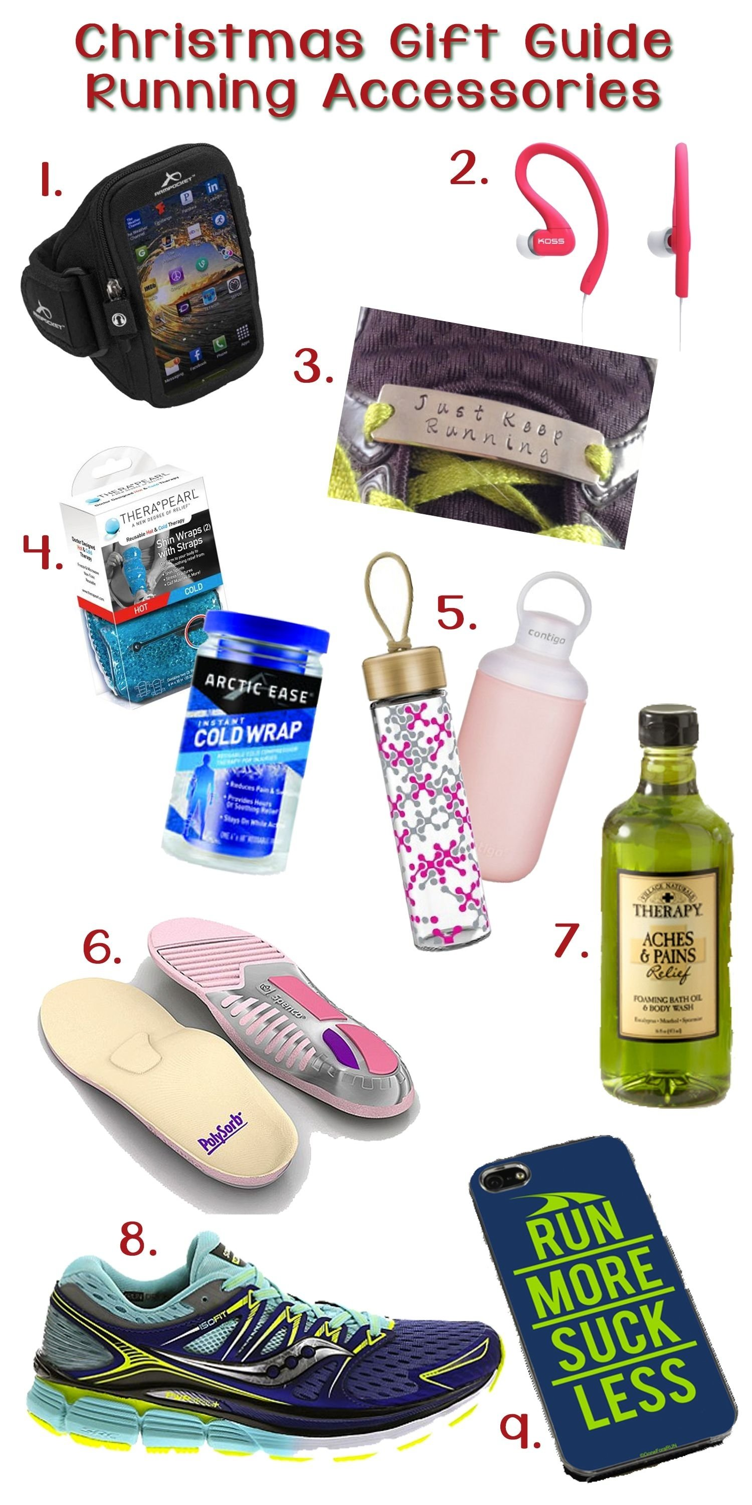 10 Most Popular Gift Ideas For A Runner the christmas gift guide for running accessories any of these gifts