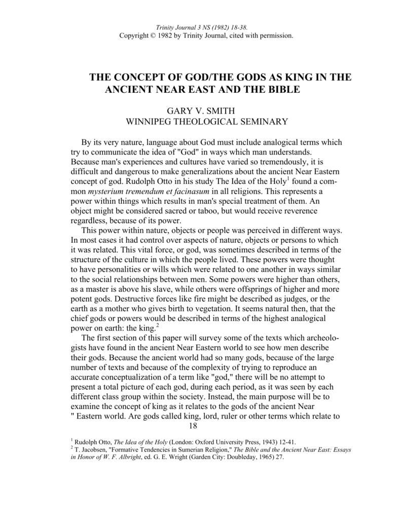 10 Pretty Rudolf Otto The Idea Of The Holy the concept of god the gods as king in the ancient near east and 2020