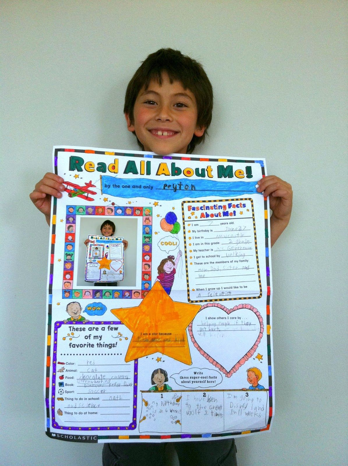 10 Cute School Project Ideas For Kids the contemplative creative school project about me poster