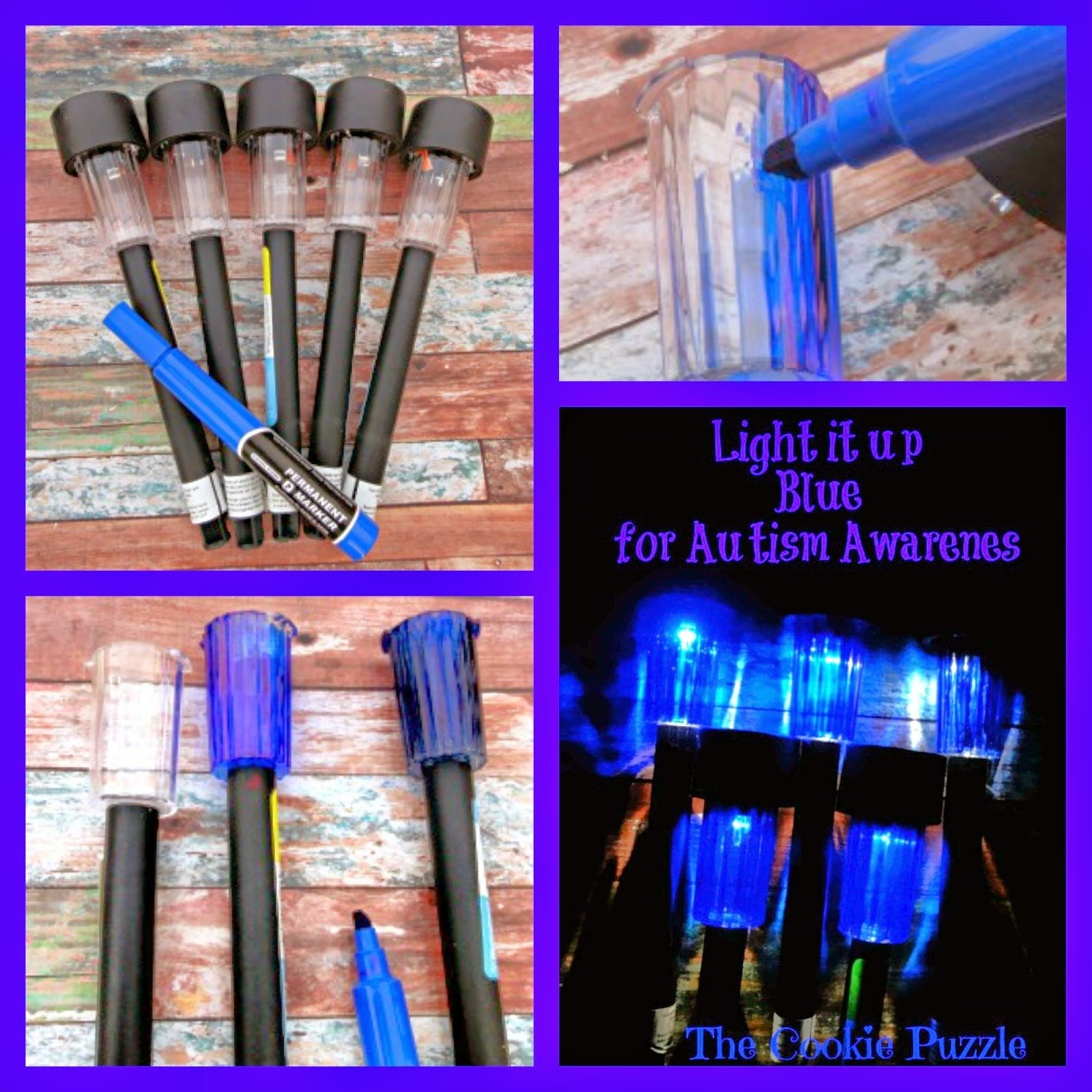 the cookie puzzle: light it up blue for autism awareness - simple