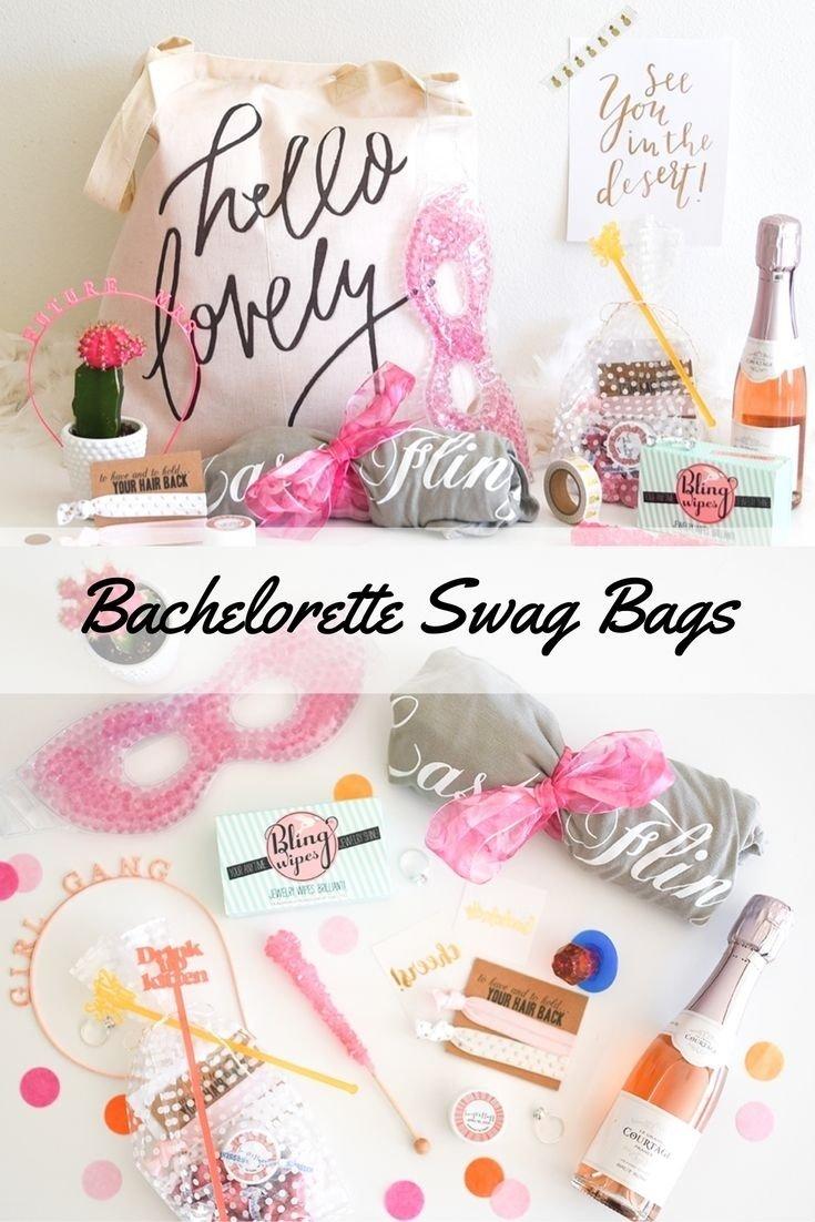 10 Unique Bachelorette Party Gift Ideas For Guests the cutest bachelorette party swag bags bachelorette party 1 2020