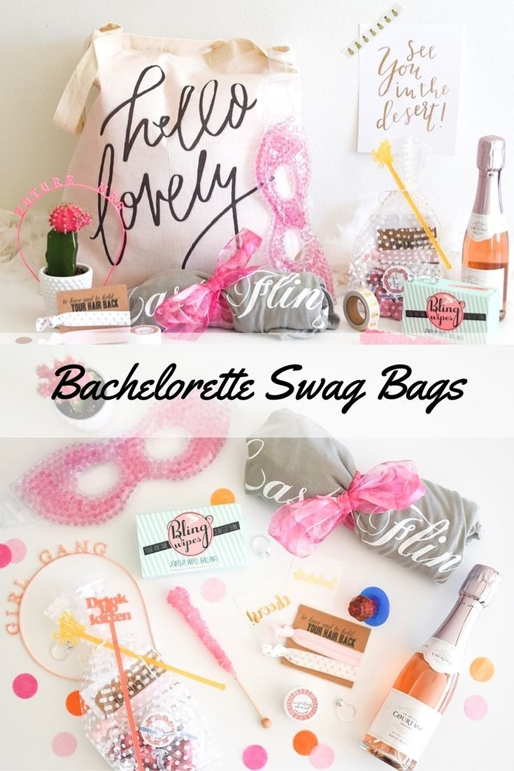 10 Fashionable Gift Ideas For Bachelorette Party the cutest bachelorette party swag bags bachelorette party 2020