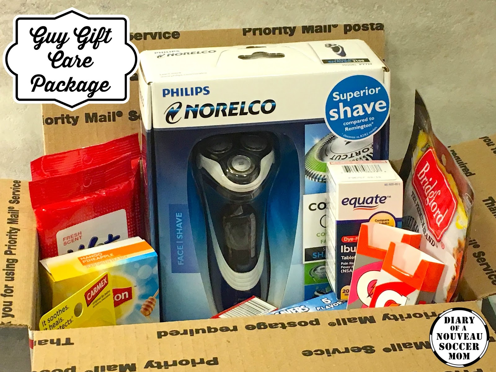 10 Unique Care Package Ideas For Guys the diary of a nouveau soccer mom guy gift ideas holiday care