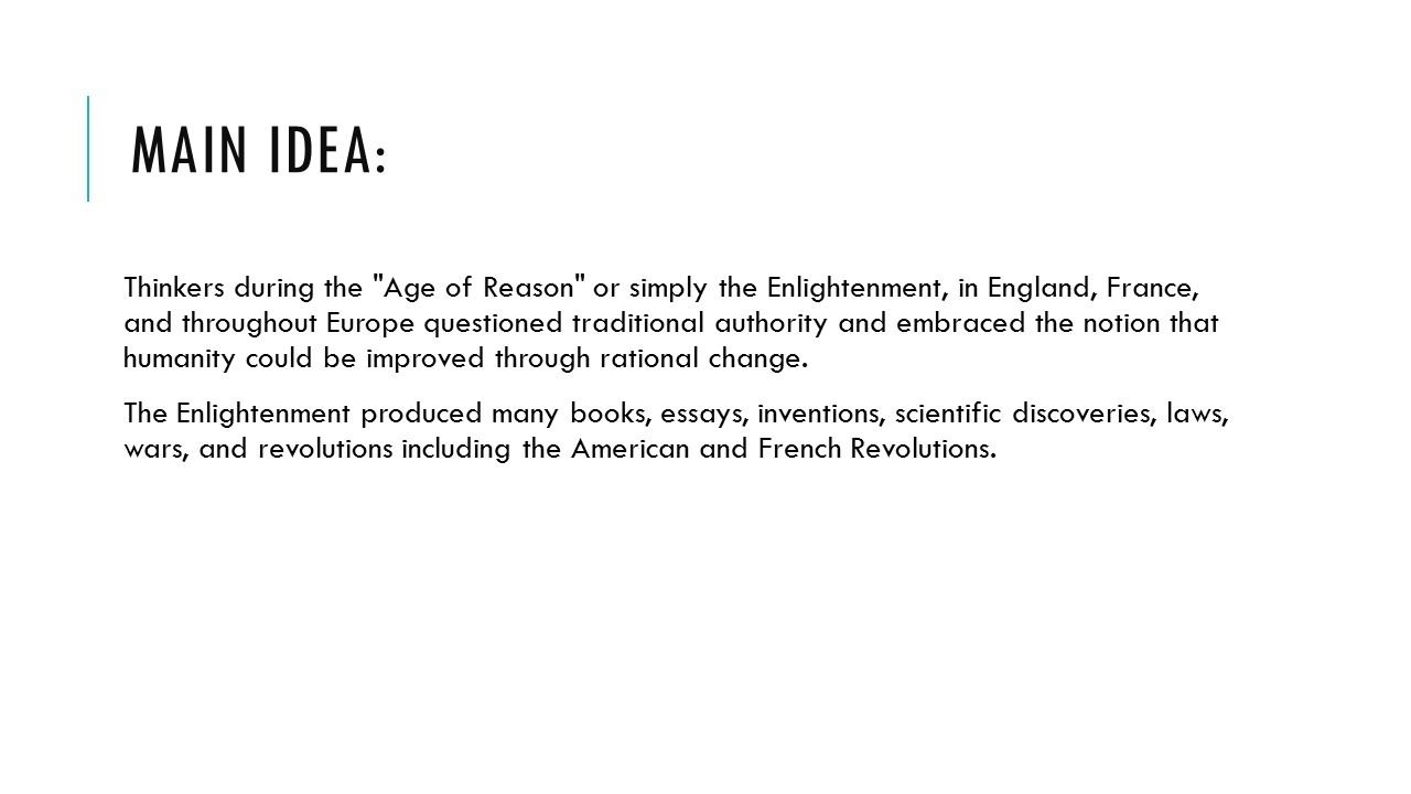 10 Great Main Ideas Of The Enlightenment the enlightenment main idea thinkers during the age of reason or 2021
