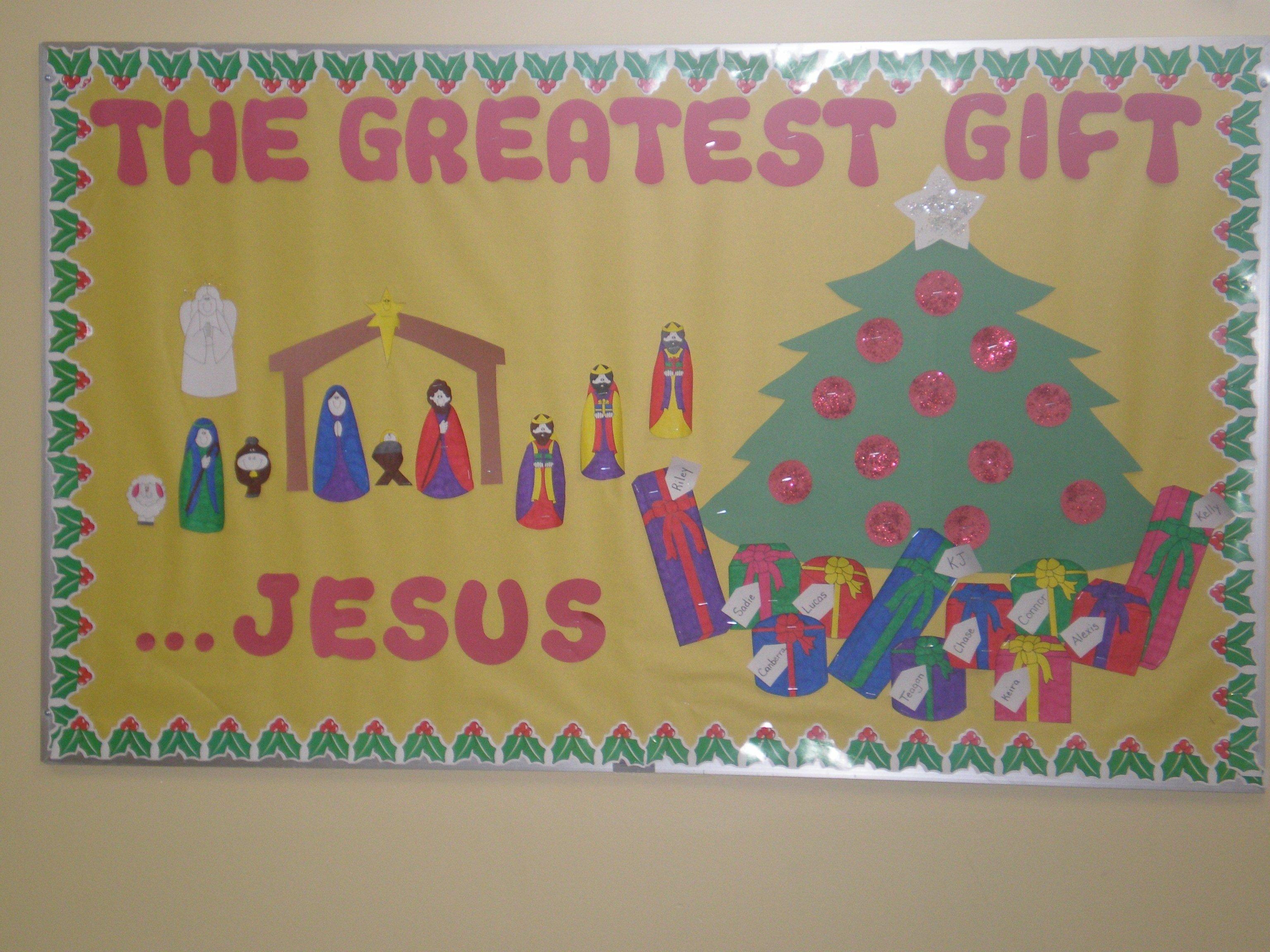 10 Lovable Christian Christmas Bulletin Board Ideas 2021