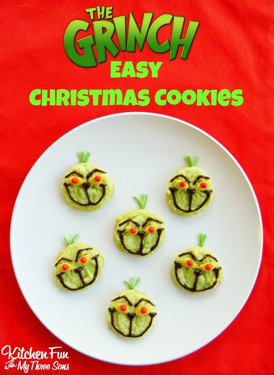 10 Perfect Christmas Cookie Ideas For Kids the grinch easy christmas cookies using pre made ingredients 2021