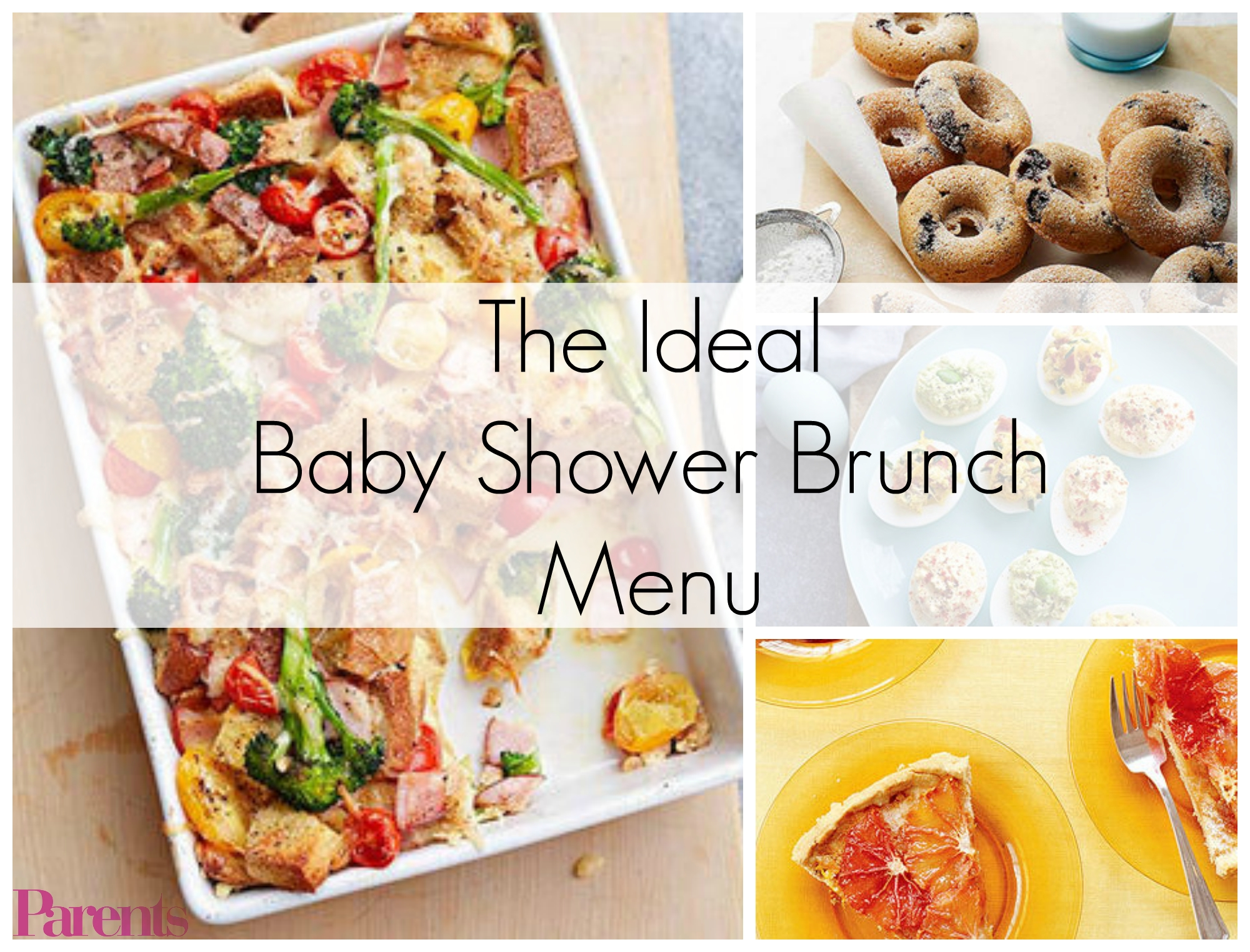 the ideal baby shower brunch menu | baby shower brunch, brunch menu