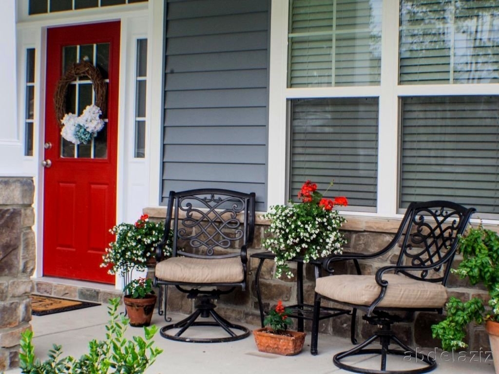 10 Spectacular Small Front Porch Ideas Pictures the image front porch decorating ideas porch decorating ideas small 2020