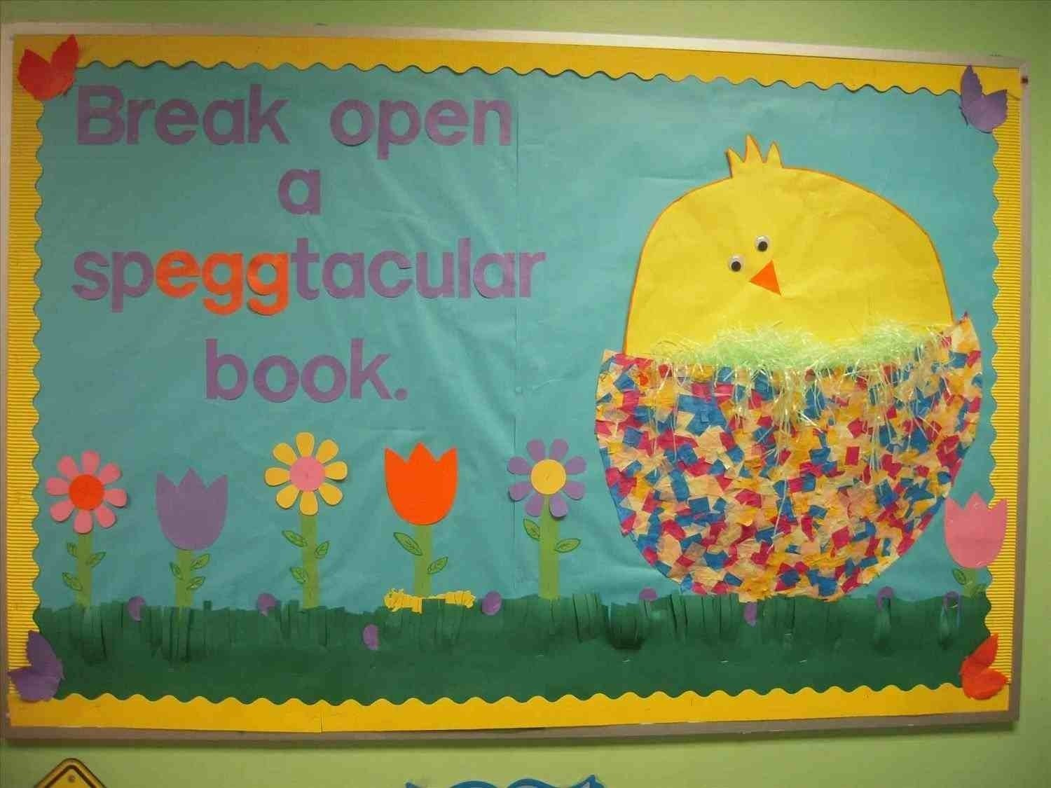 10 Attractive Spring Library Bulletin Board Ideas the images collection of end of year time flowers with book an