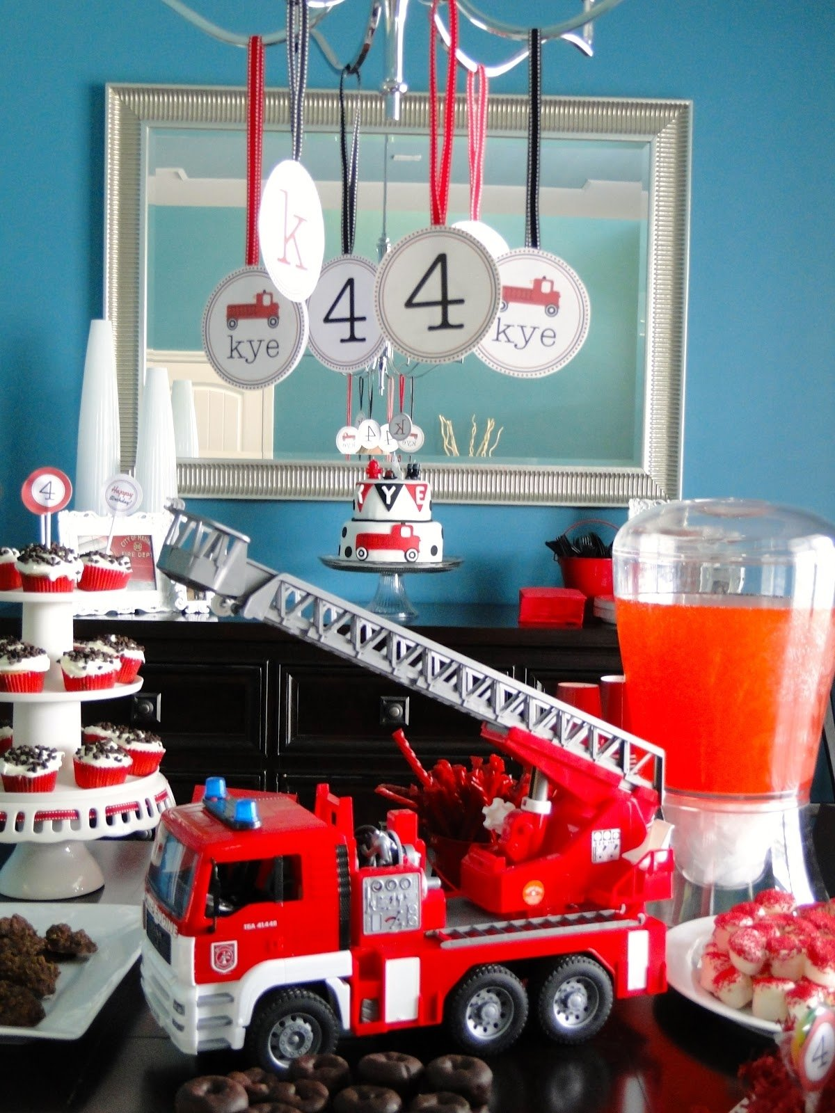 10 Awesome Fire Truck Birthday Party Ideas the journey of parenthood firetruck party decorations 2020
