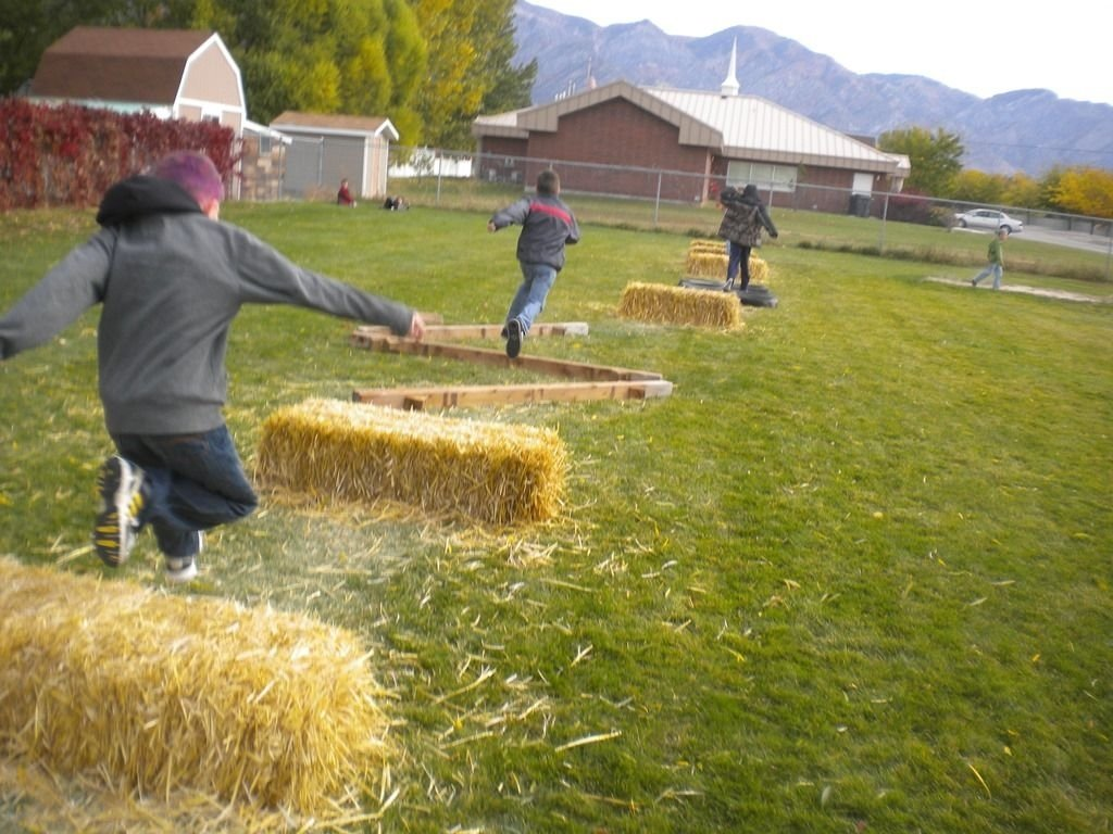 the jumping, running, throwing fun of an obstacle course | family